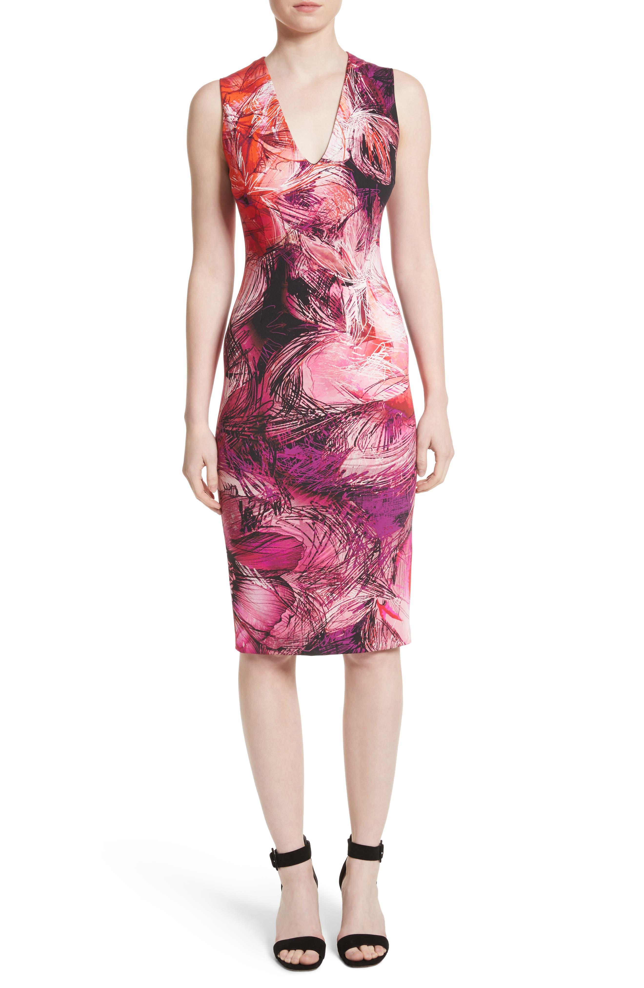 Print Sheath Dress,                             Main thumbnail 1, color,                             650