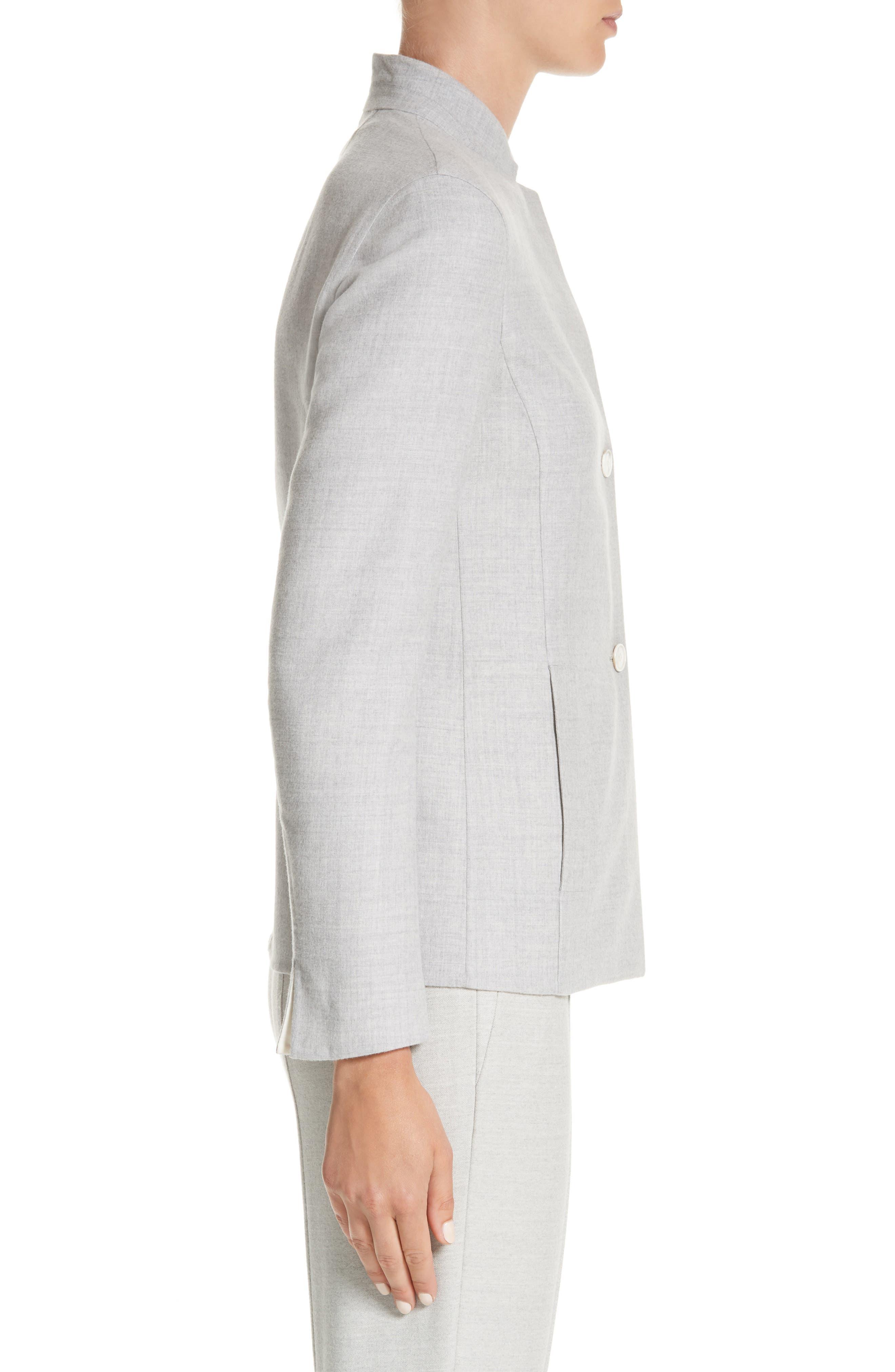 Stretch Wool & Silk Bicolor Reversible Jacket,                             Alternate thumbnail 3, color,                             020