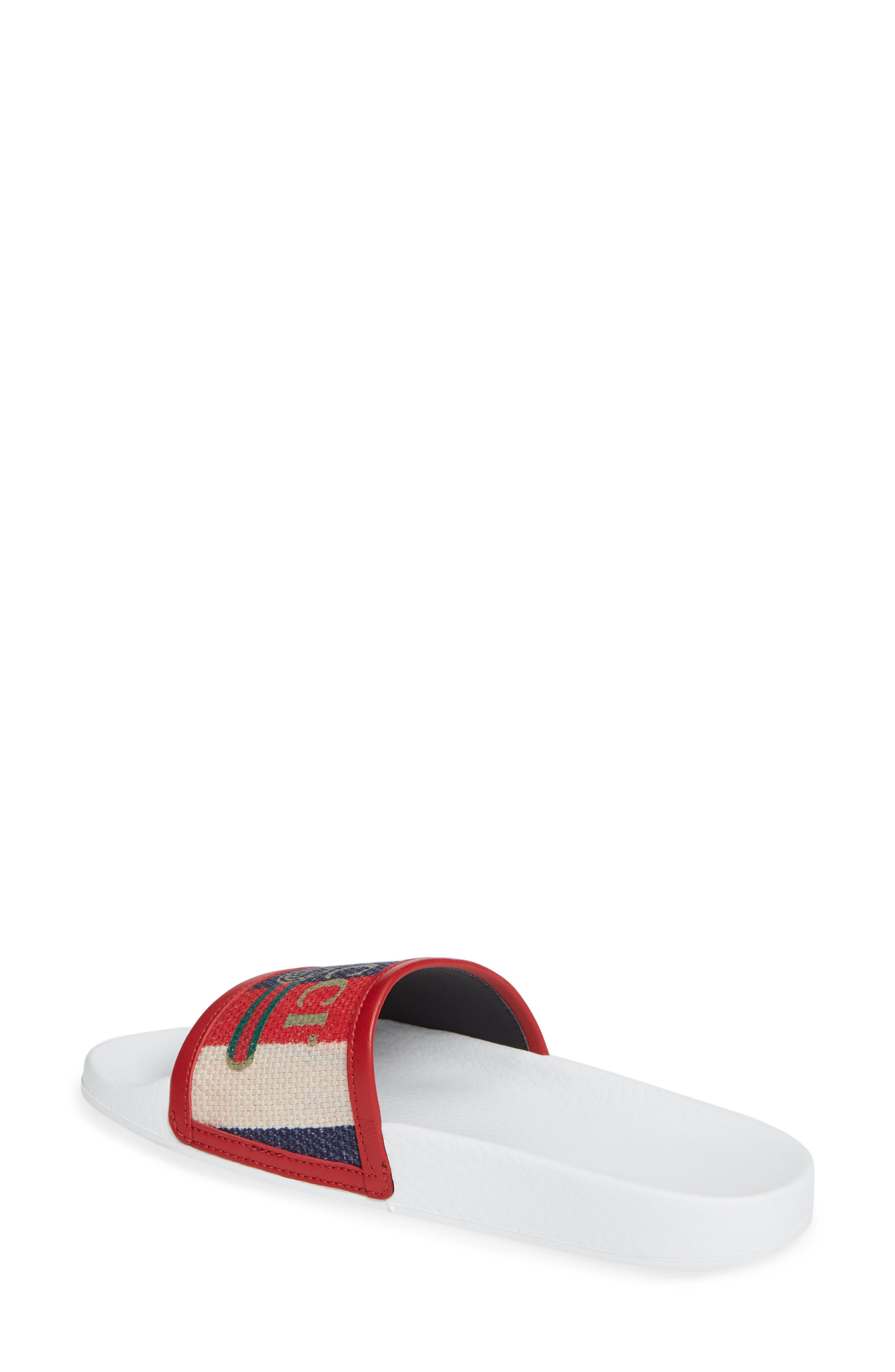Sylvie Stripe Slide Sandal,                             Alternate thumbnail 2, color,                             100