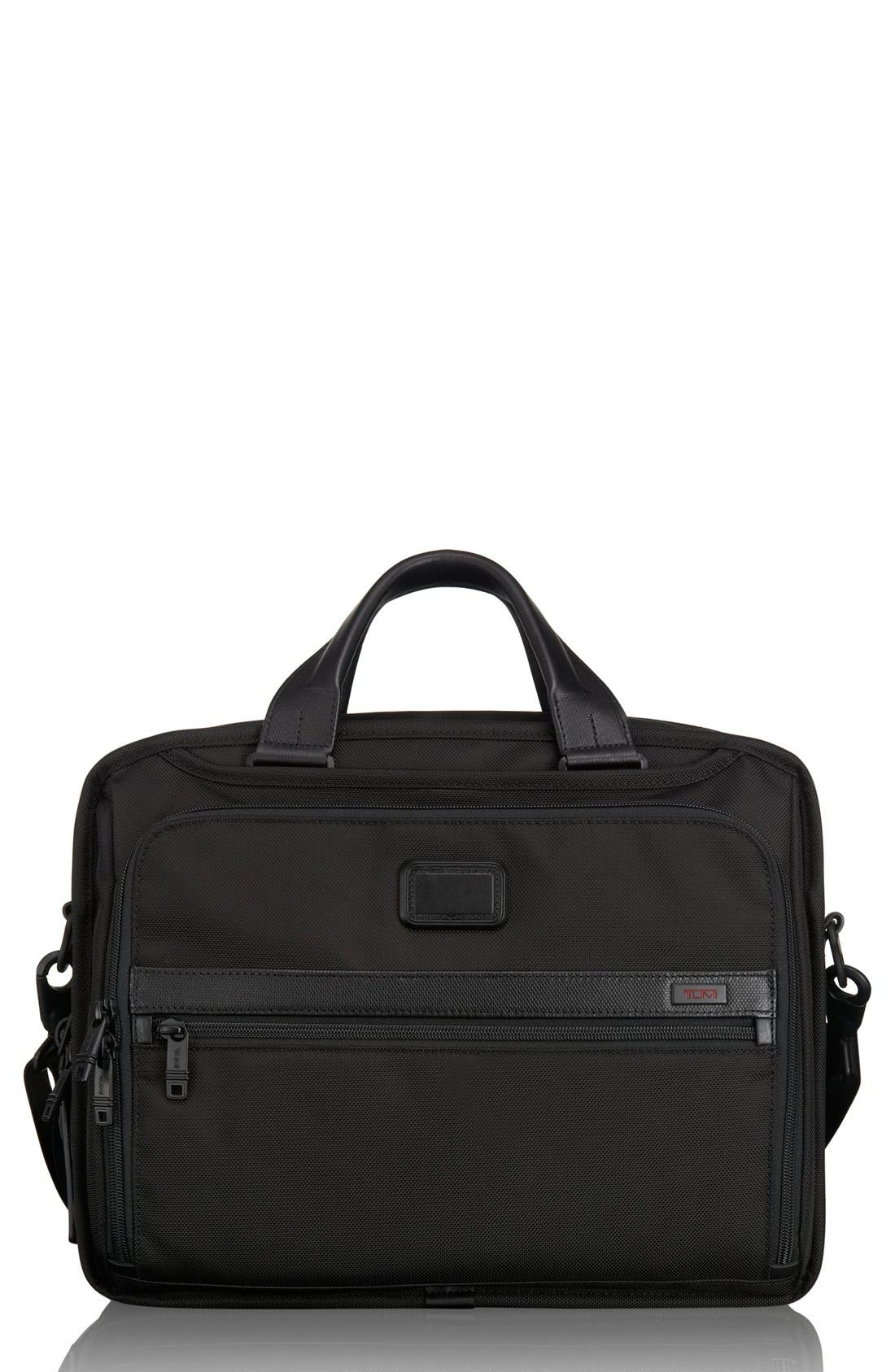 TUMI,                             Alpha 2 Expandable Organizer Computer Briefcase,                             Main thumbnail 1, color,                             007