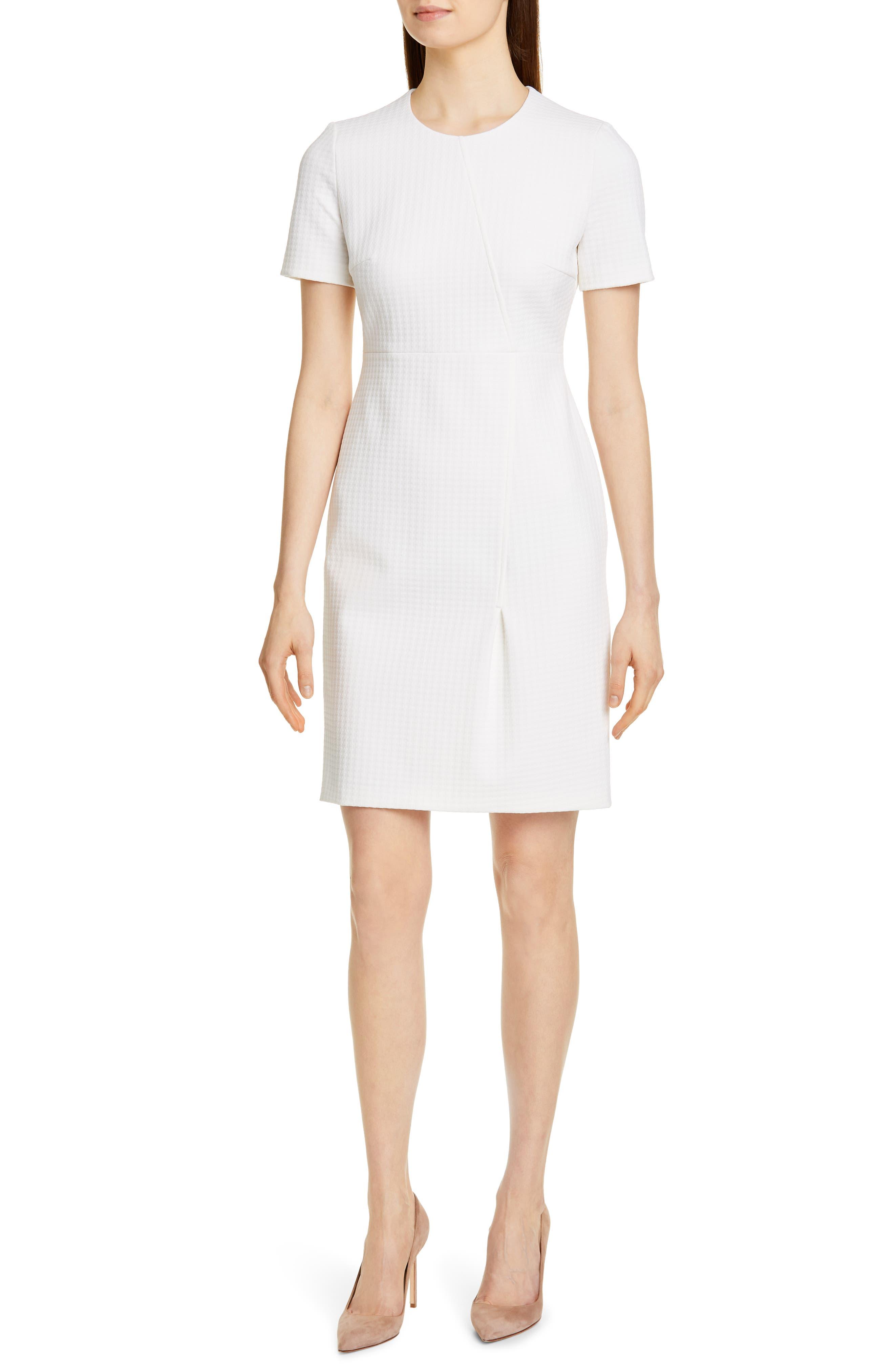 Boss Ditadara Sheath Dress, White