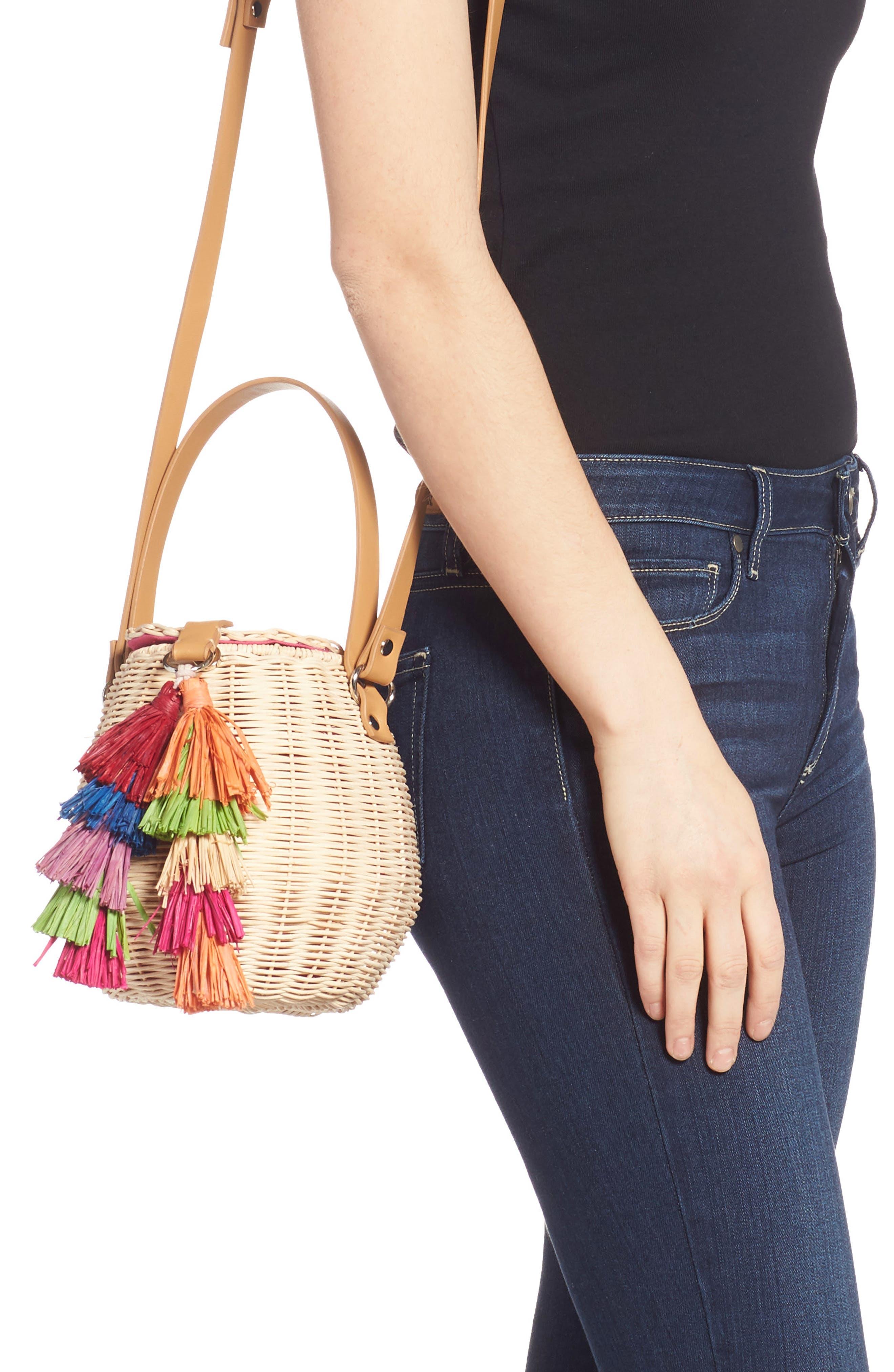 Honey Pot Basket Crossbody Bag, Alternate, color, NATURAL
