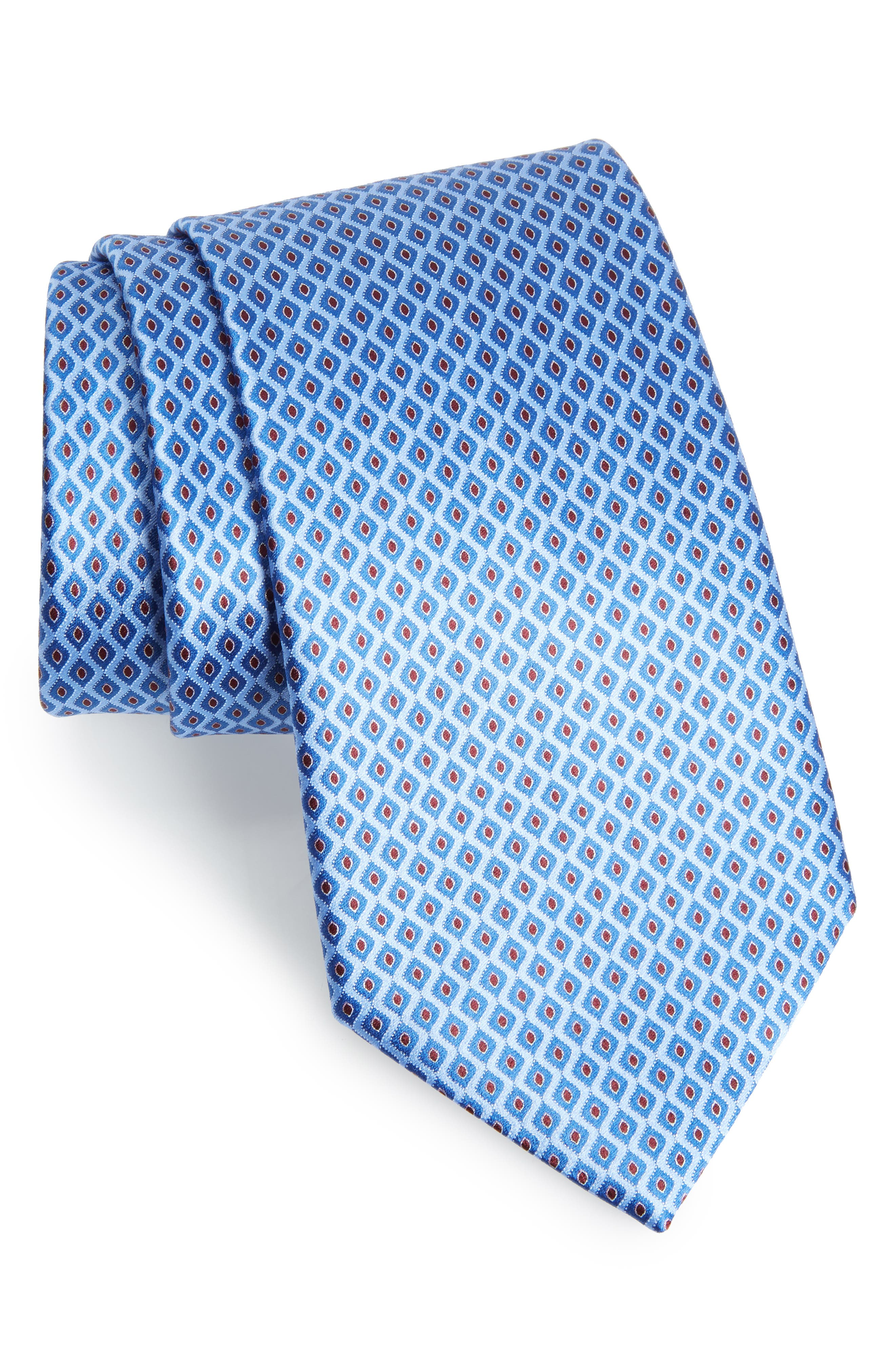 Geometric Silk Tie,                             Main thumbnail 1, color,                             438