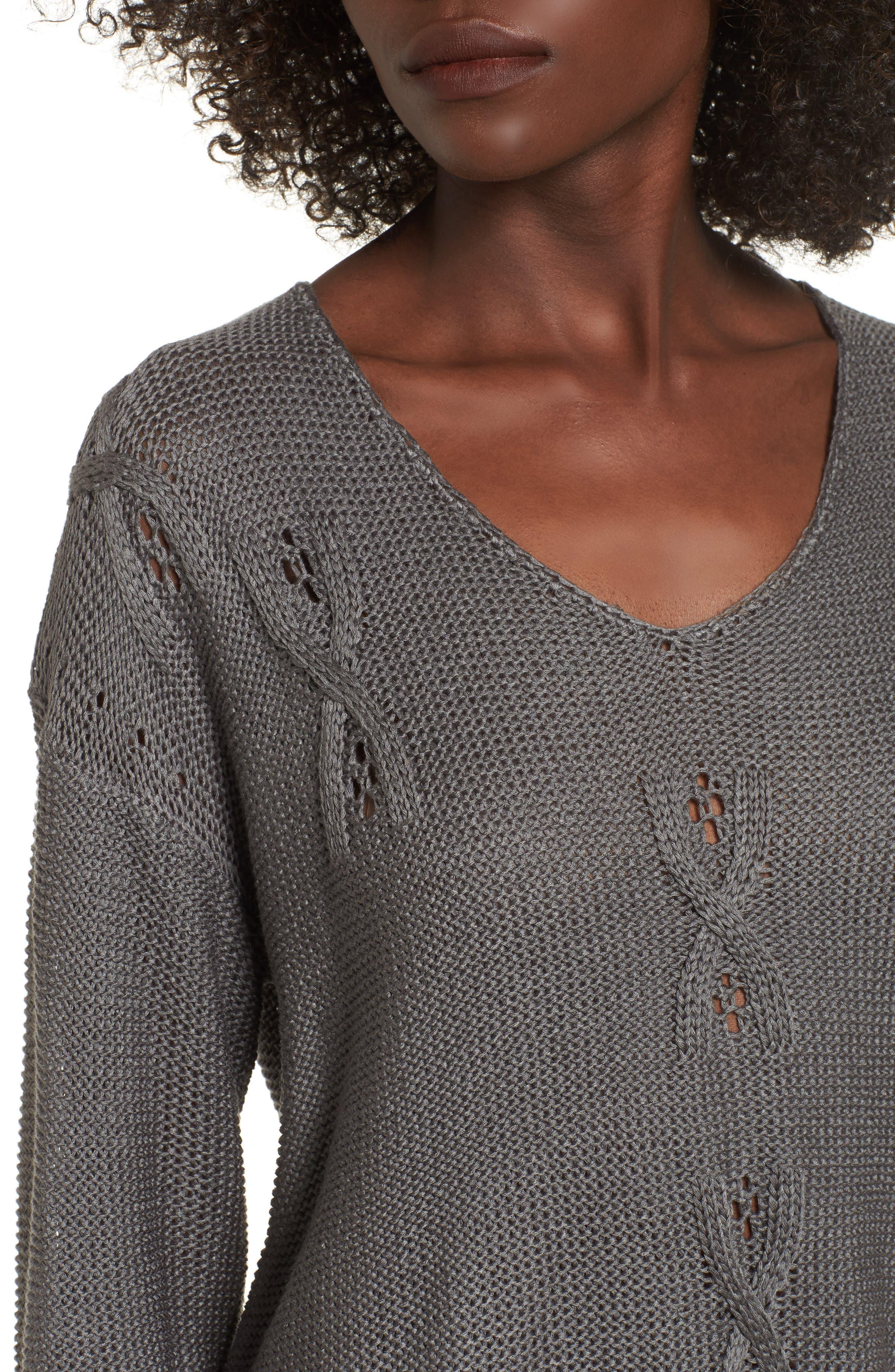 Patti Longline Sweater,                             Alternate thumbnail 4, color,                             021