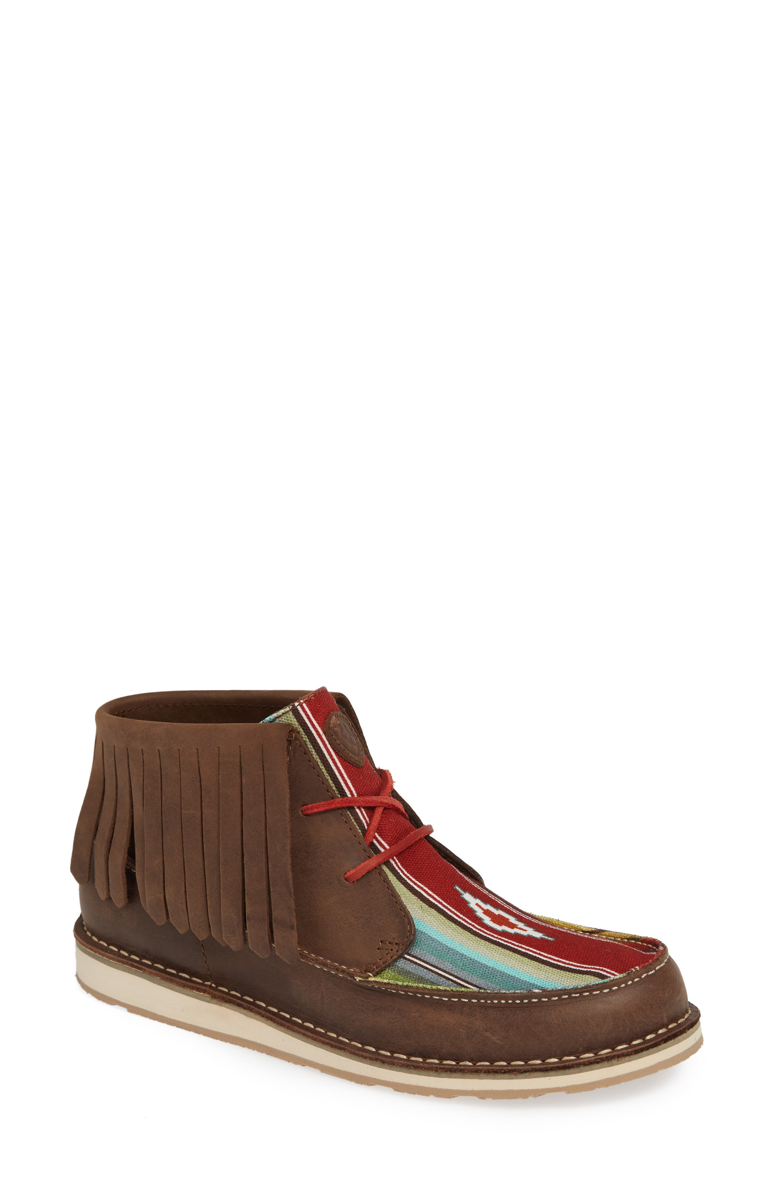 Cruiser Fringe Chukka Boot,                             Main thumbnail 1, color,                             PALM BROWN SADDLE LEATHER