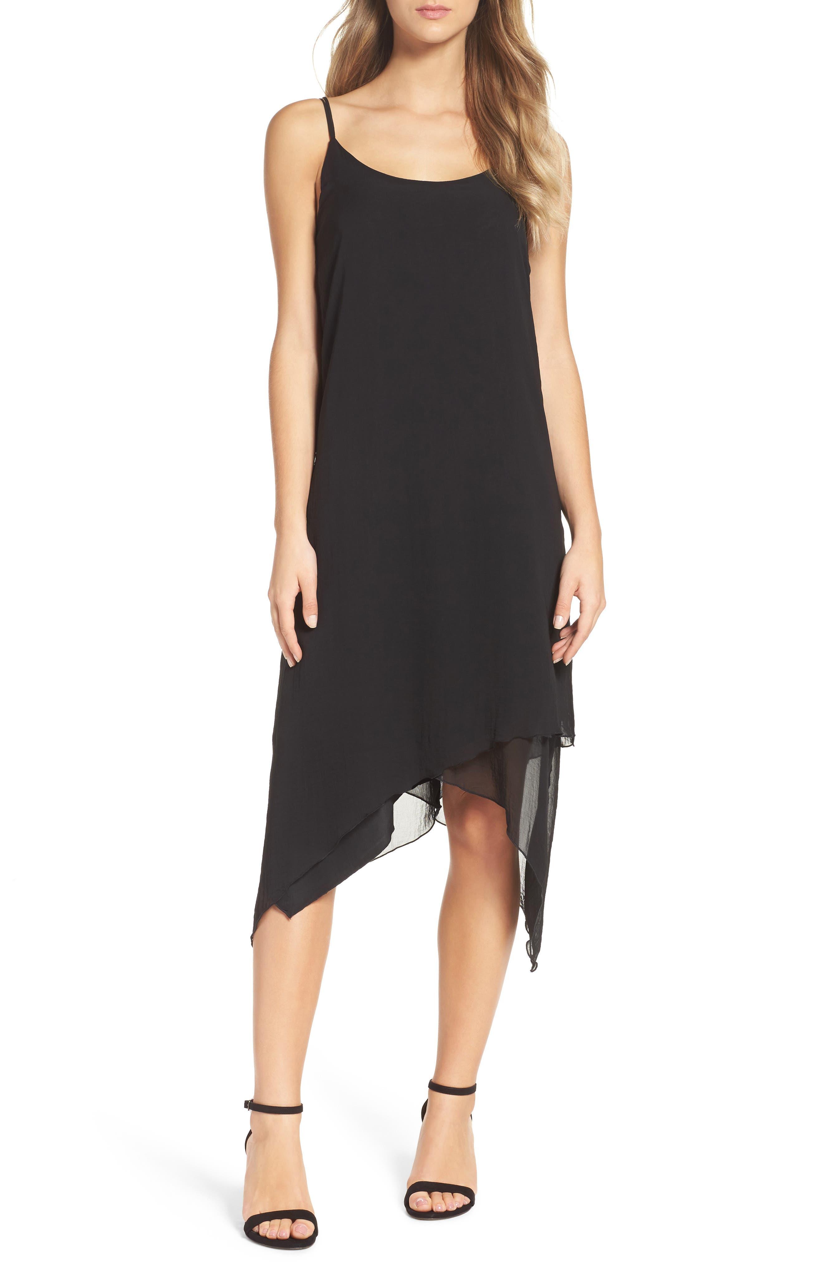 Chiffon Midi Dress,                         Main,                         color, 001