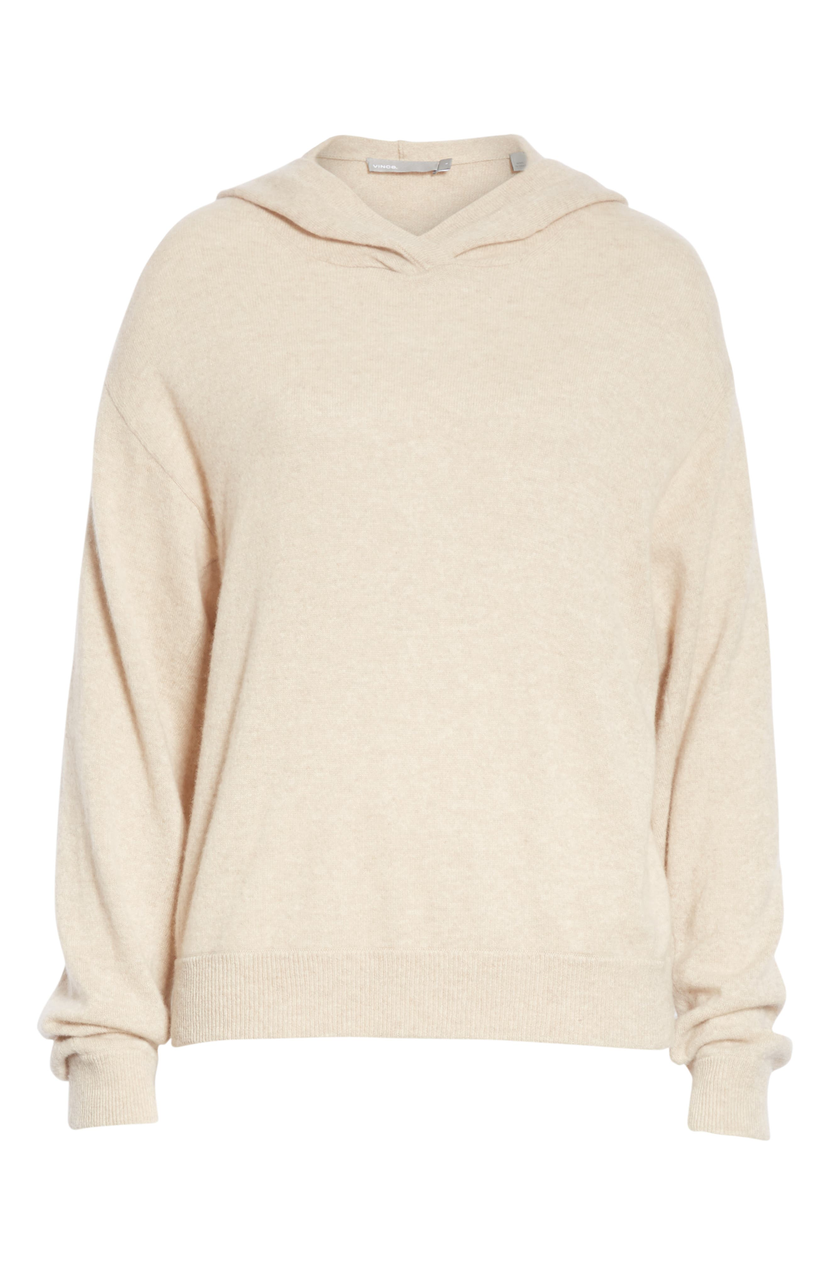 Overlap Cashmere Hoodie,                             Alternate thumbnail 6, color,                             255