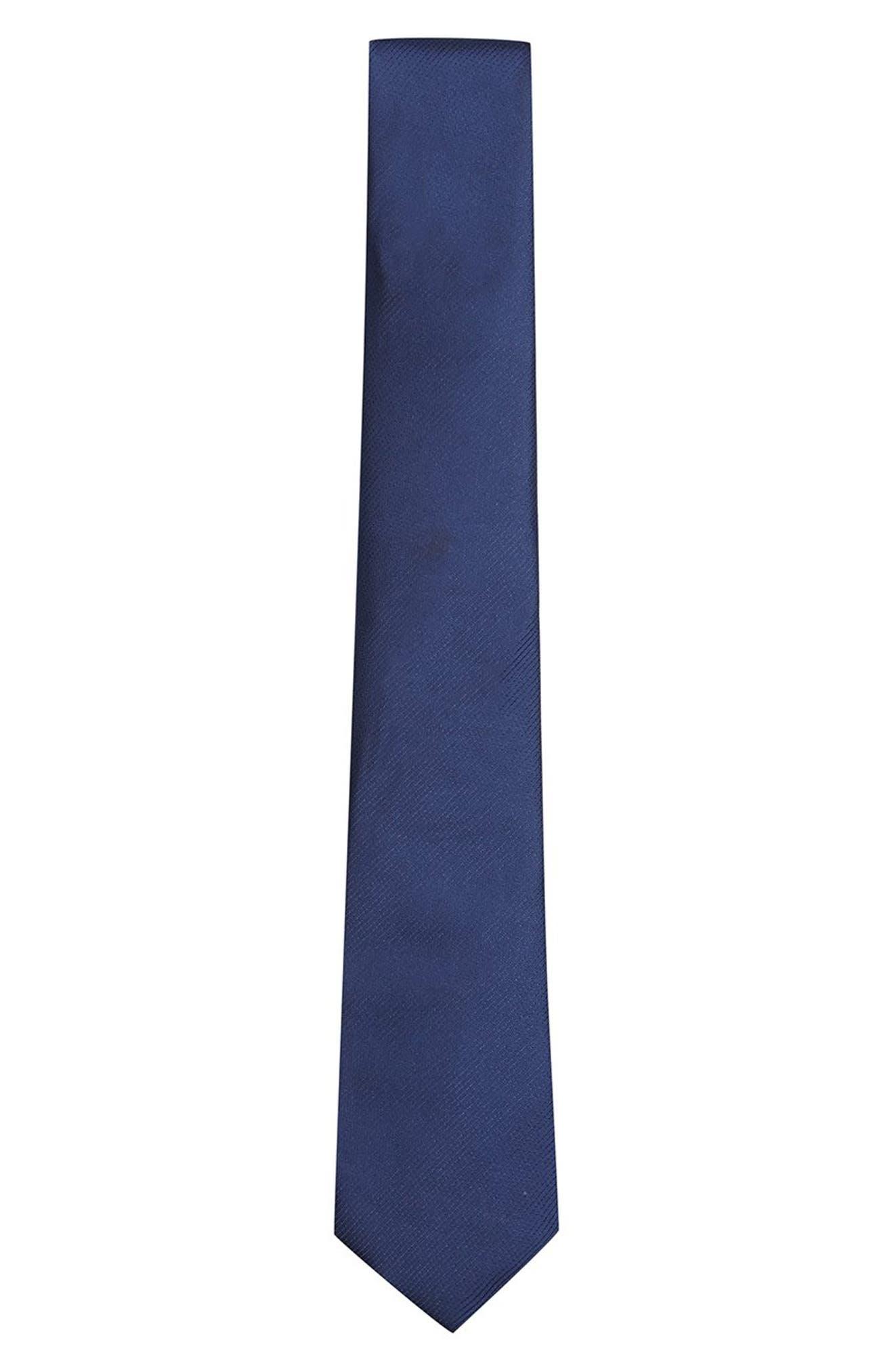 Woven Tie,                         Main,                         color, NAVY BLUE