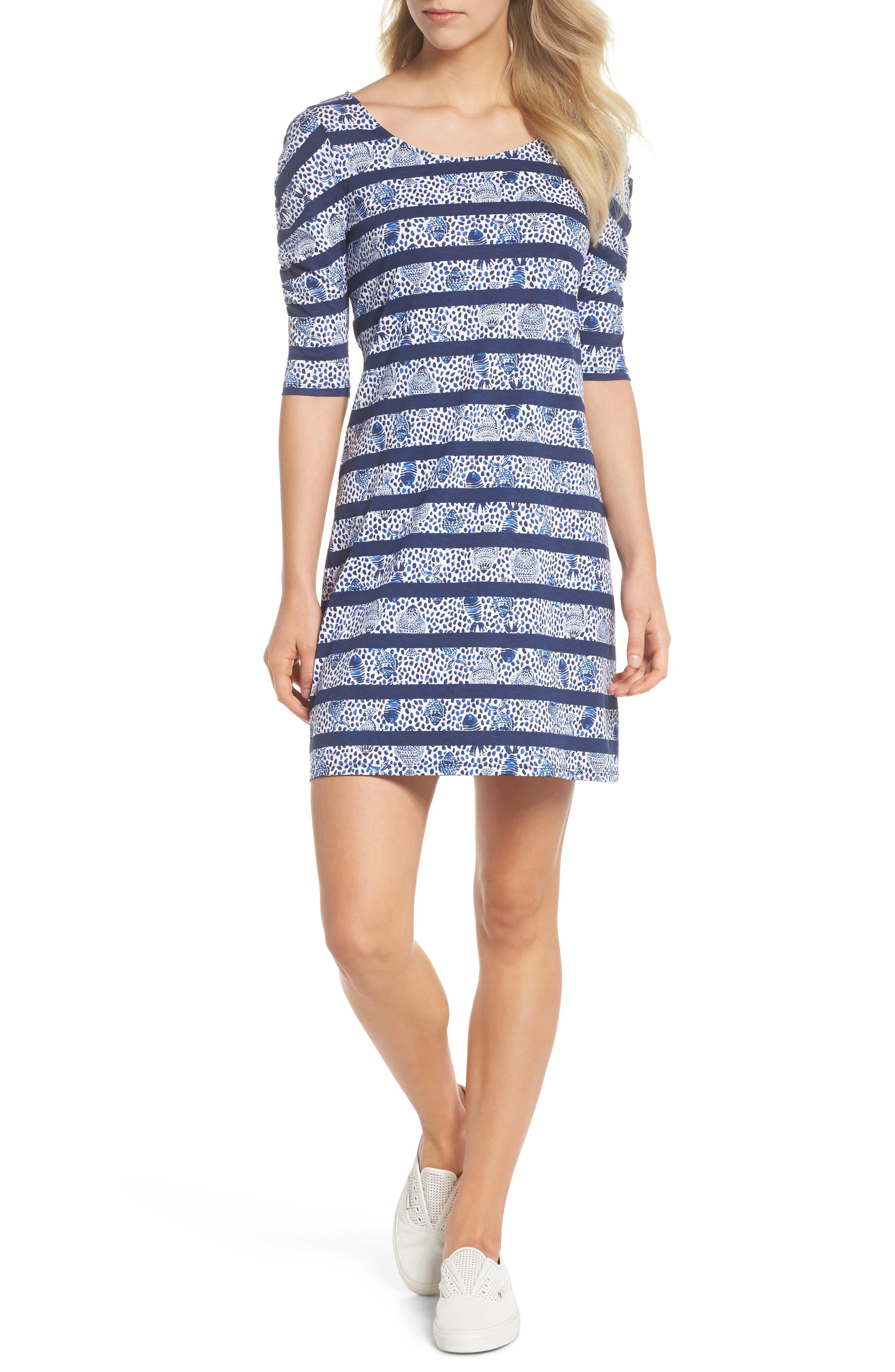 Lajolla Stripe Dress,                             Alternate thumbnail 5, color,