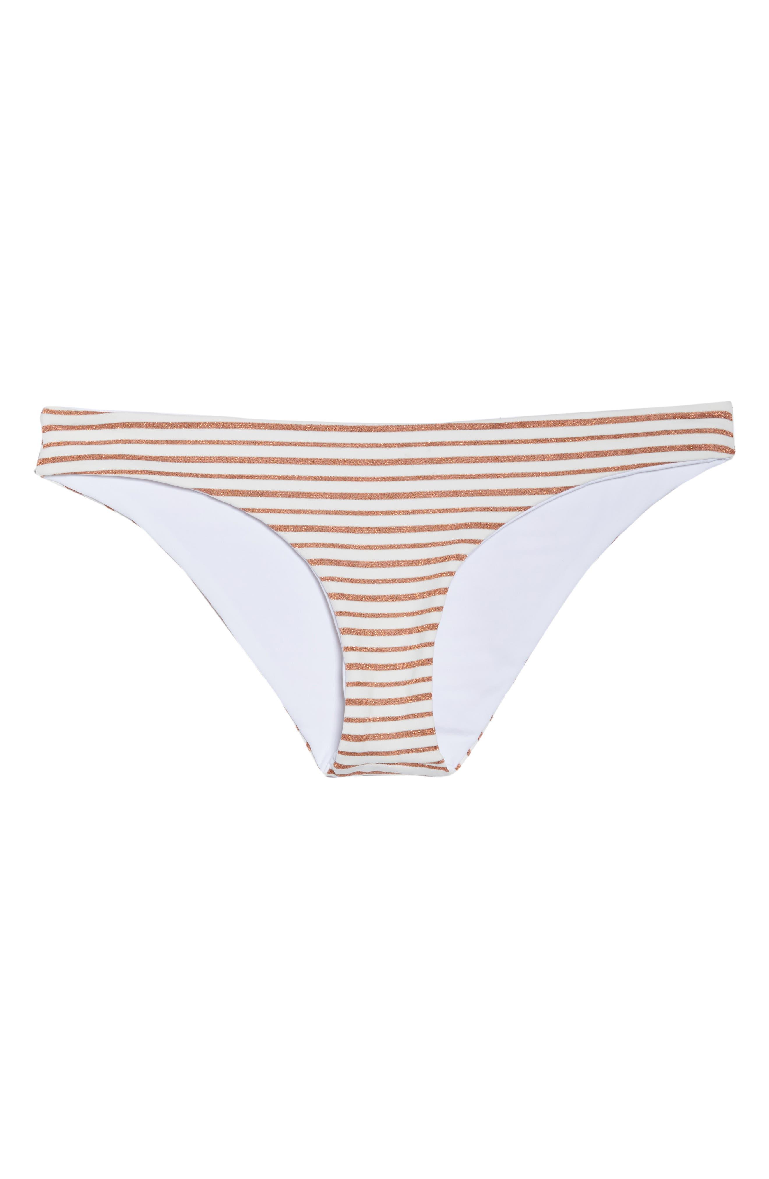 L SPACE,                             Sandy Stripe Bikini Bottoms,                             Alternate thumbnail 6, color,                             100