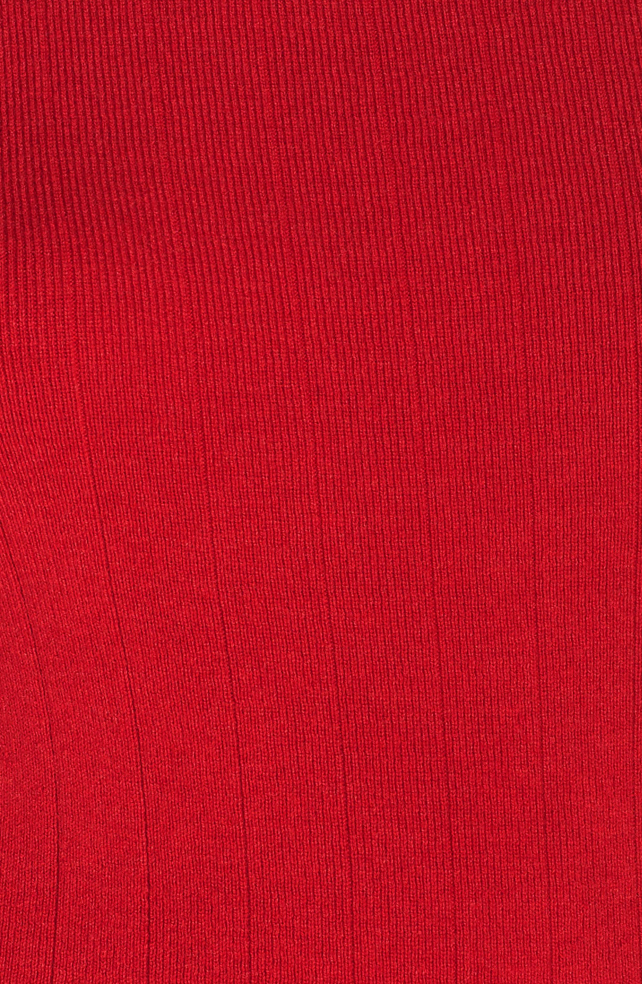 Variegated Rib Sweater,                             Alternate thumbnail 11, color,                             RED CHILI