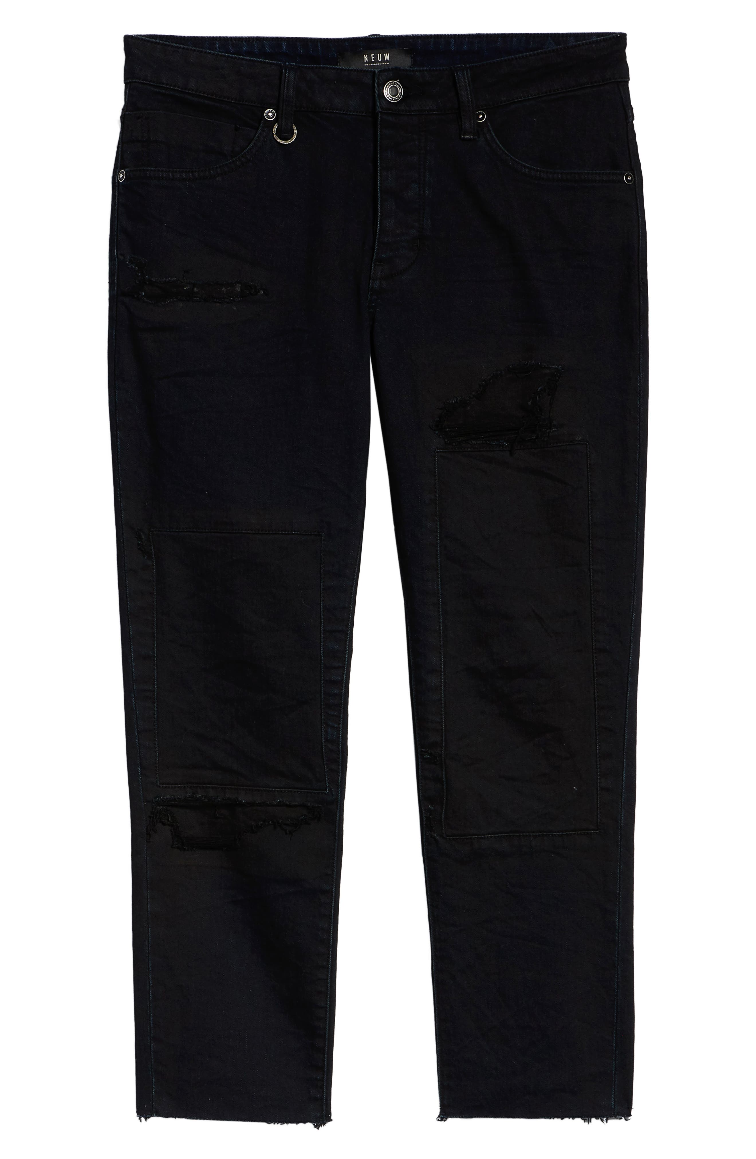 Lou Distressed Skinny Fit Jeans,                             Alternate thumbnail 6, color,                             COALITION