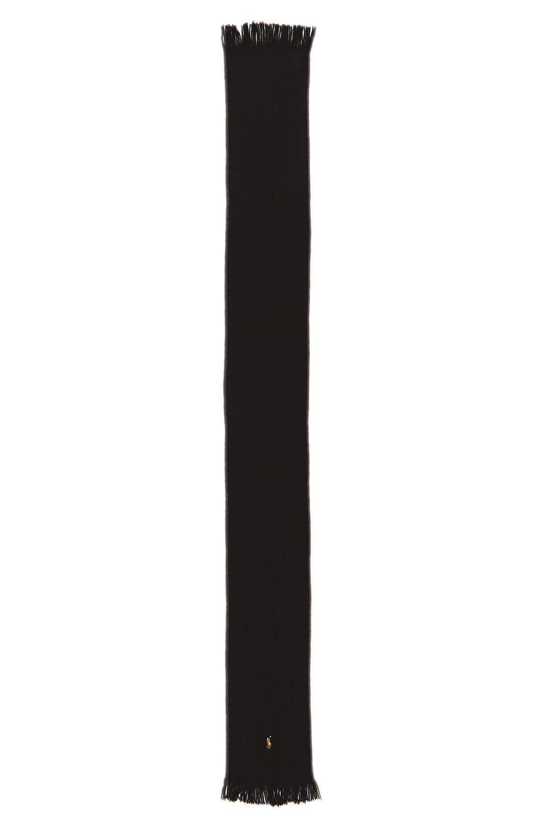Merino Wool Scarf,                             Alternate thumbnail 3, color,                             001