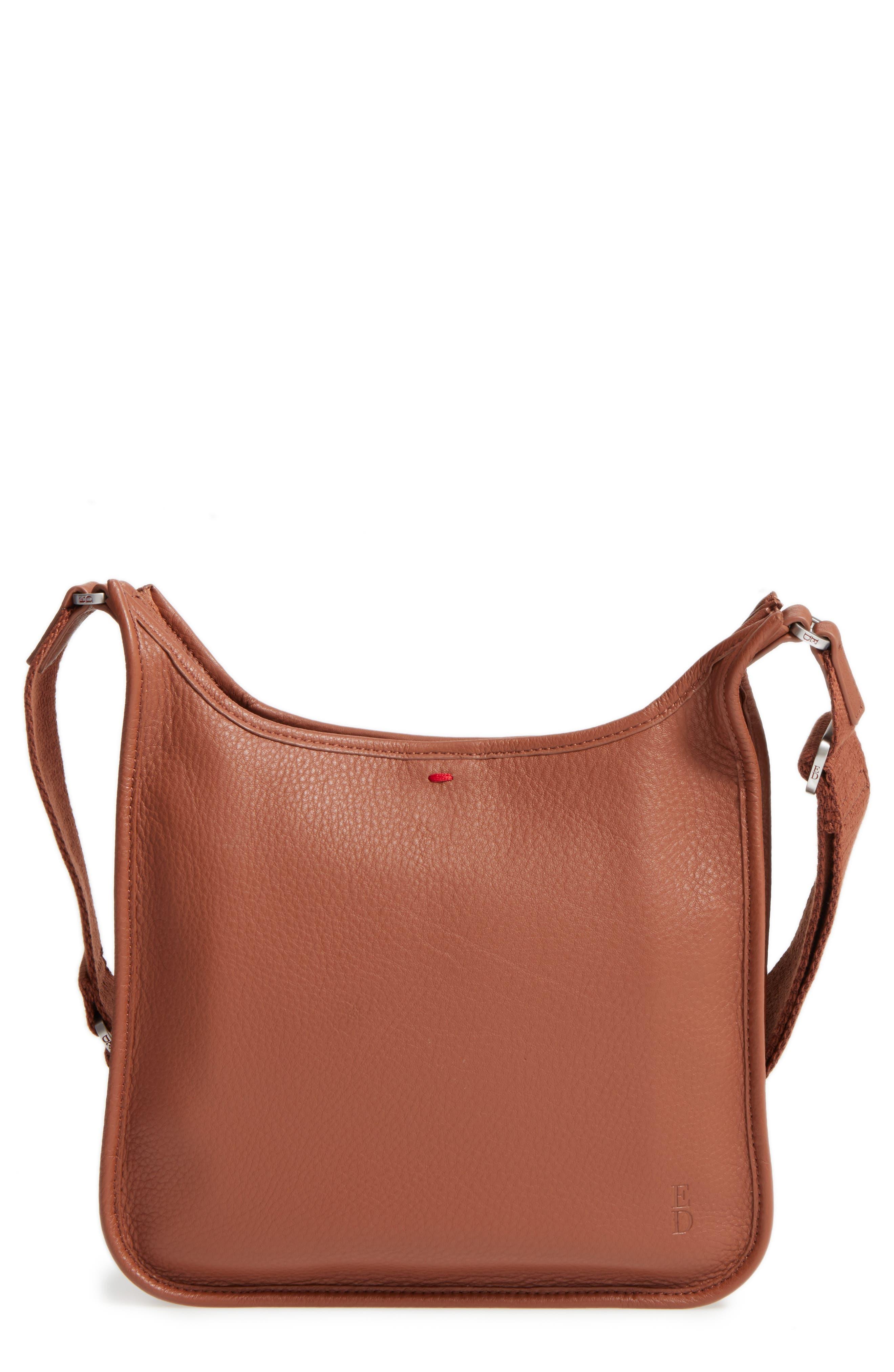 Leather Crossbody Bag,                             Main thumbnail 4, color,