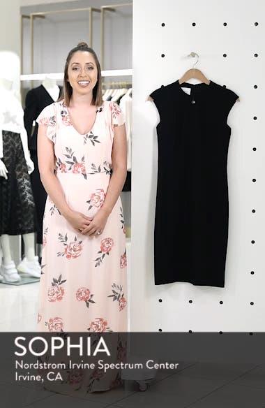 Cap Sleeve Sheath Dress, sales video thumbnail