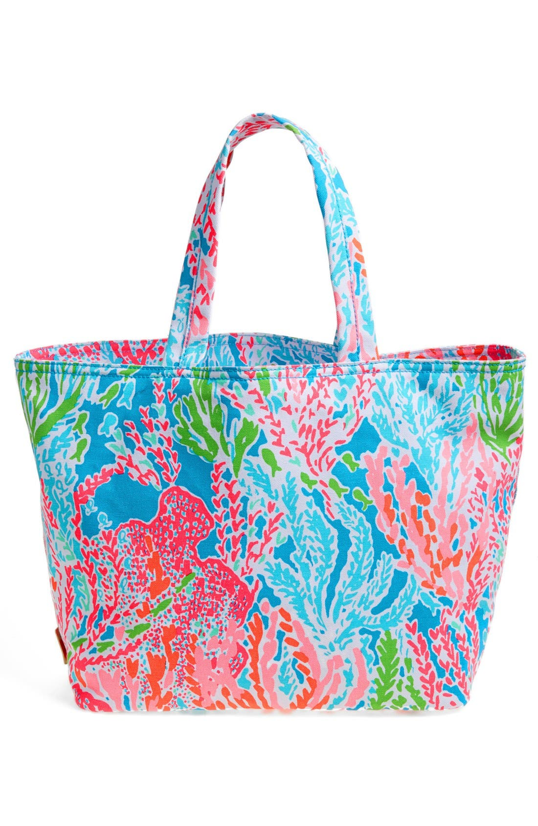 Canvas Beach Tote,                             Alternate thumbnail 6, color,