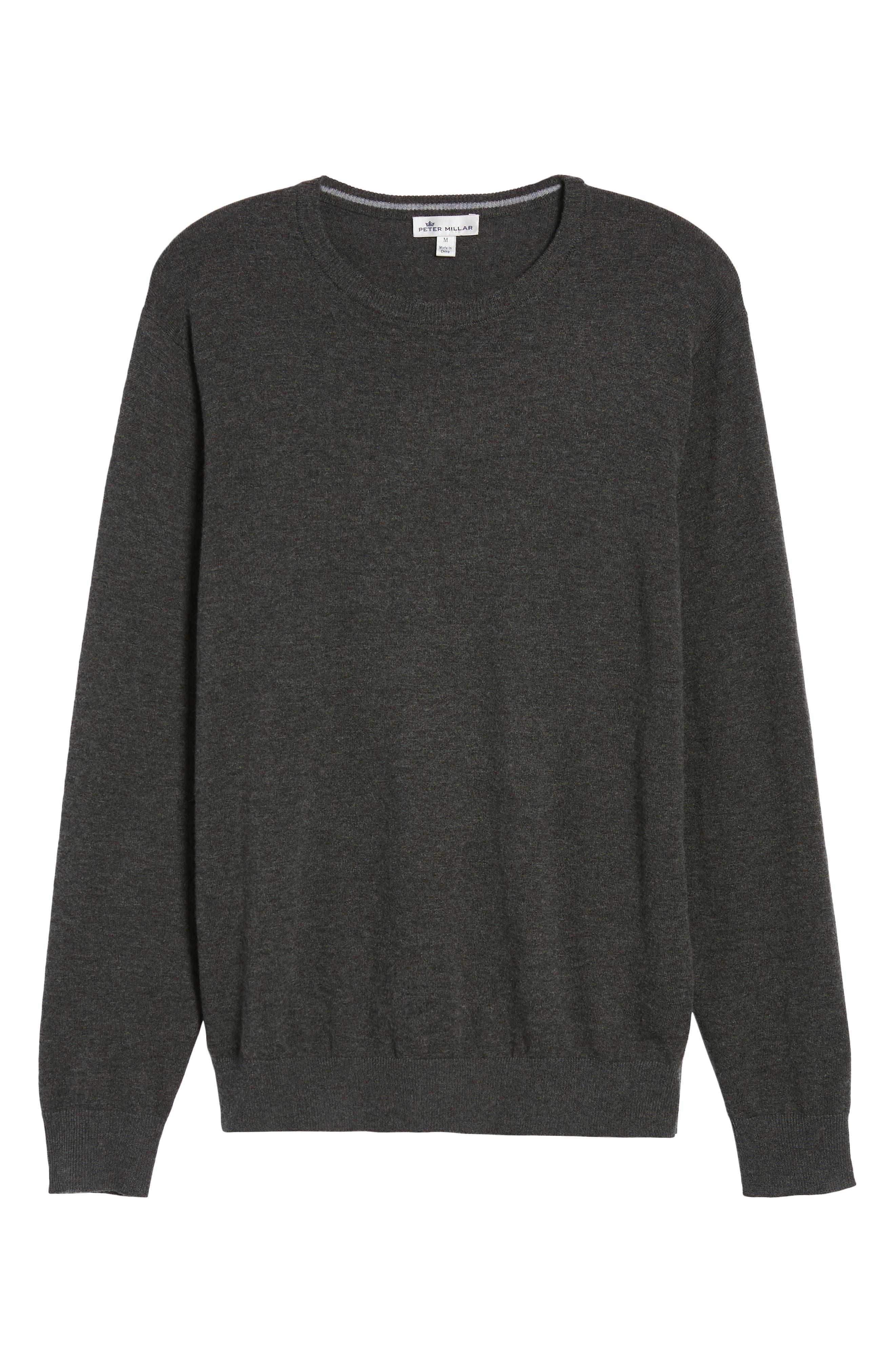 Wool & Cotton Crewneck Sweater,                             Alternate thumbnail 6, color,                             022