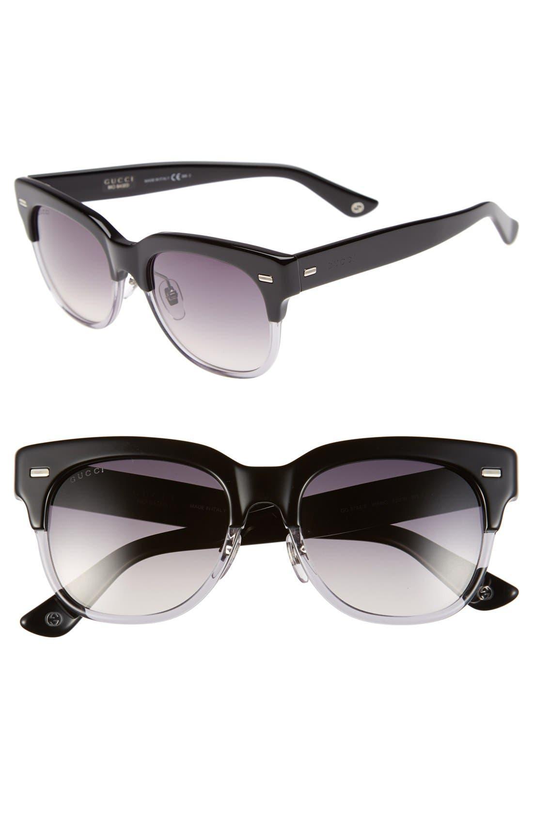 52mm Retro Sunglasses,                         Main,                         color, 001