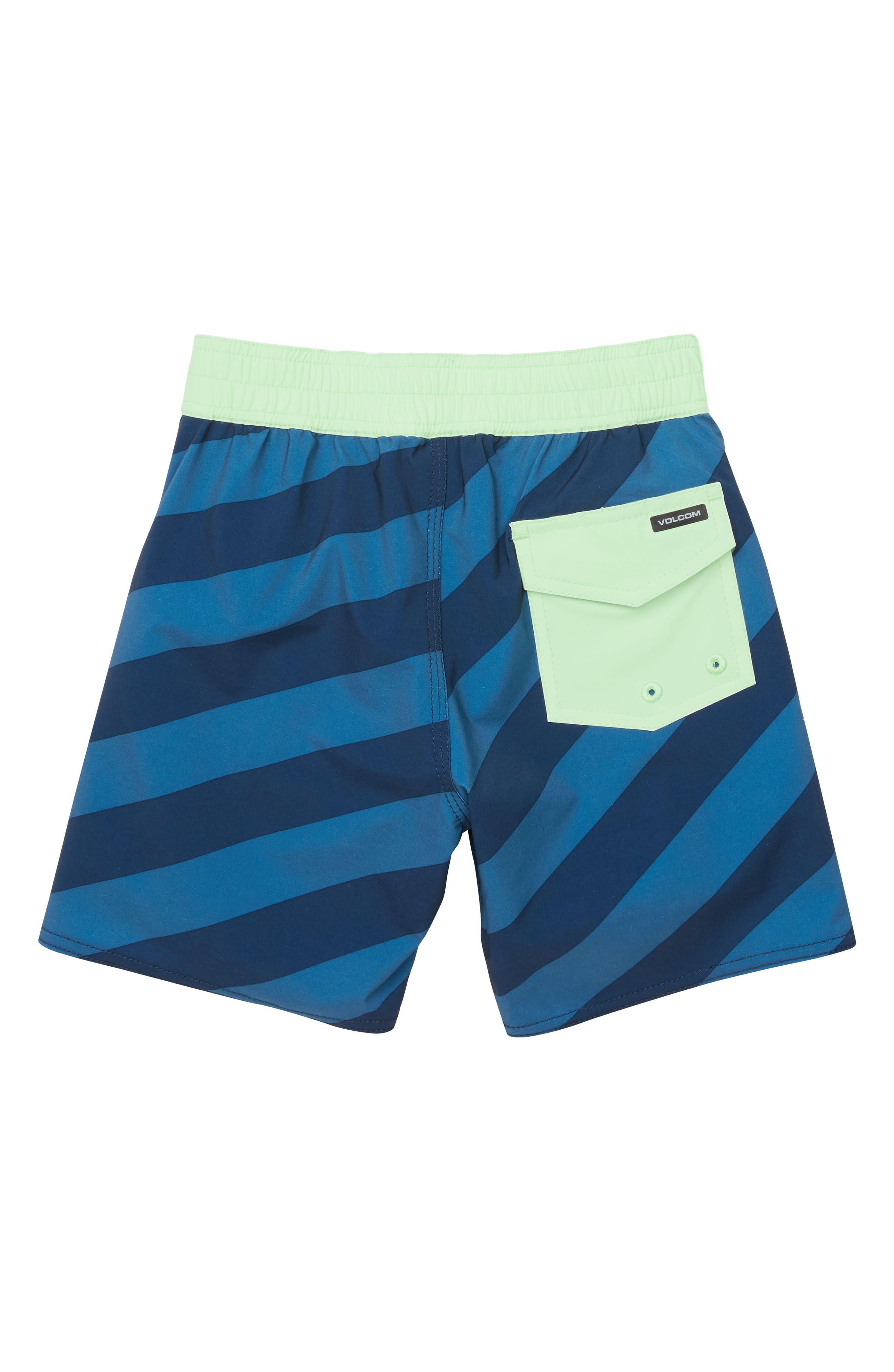 Stripey Board Shorts,                             Alternate thumbnail 2, color,                             INDIGO