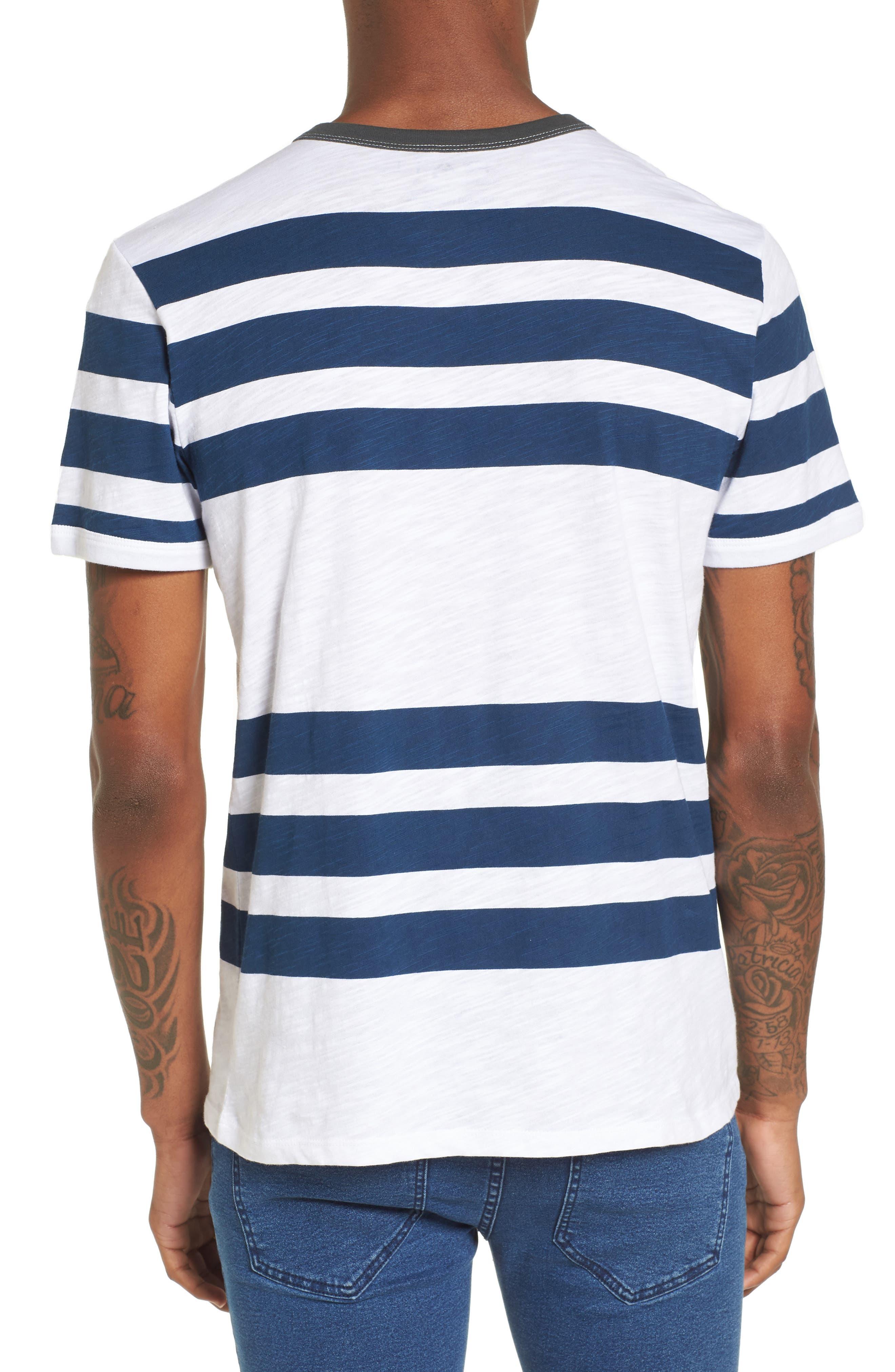 Slub Stripe Ringer T-Shirt,                             Alternate thumbnail 2, color,                             420