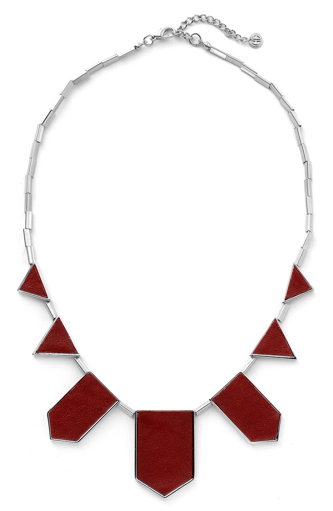 Leather Station Necklace,                             Main thumbnail 11, color,