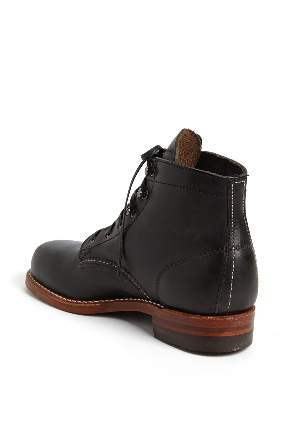 '1000 Mile' Leather Boot,                             Alternate thumbnail 4, color,                             001