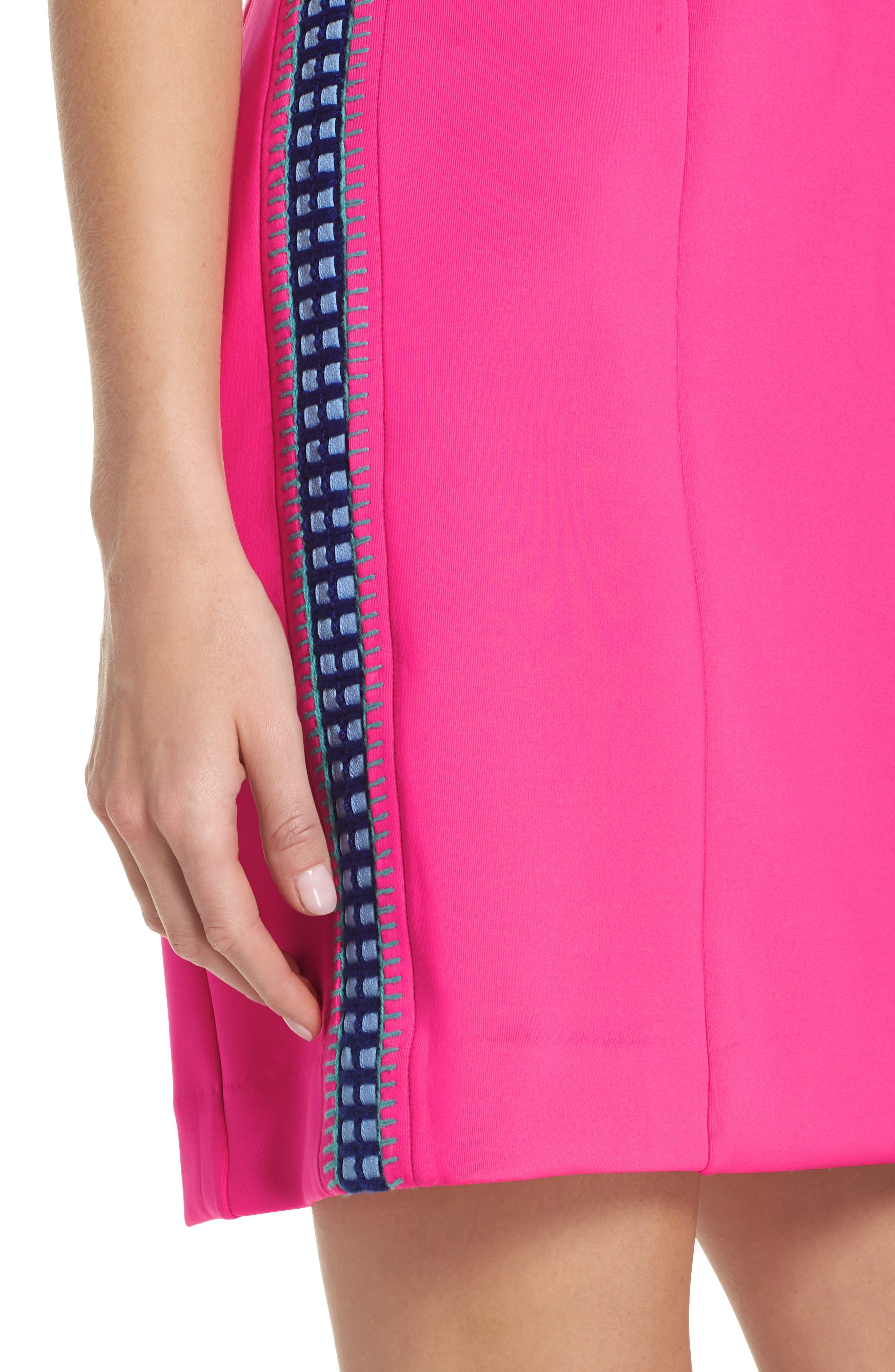 Mila Sheath Dress,                             Alternate thumbnail 4, color,                             RAZ BERRY