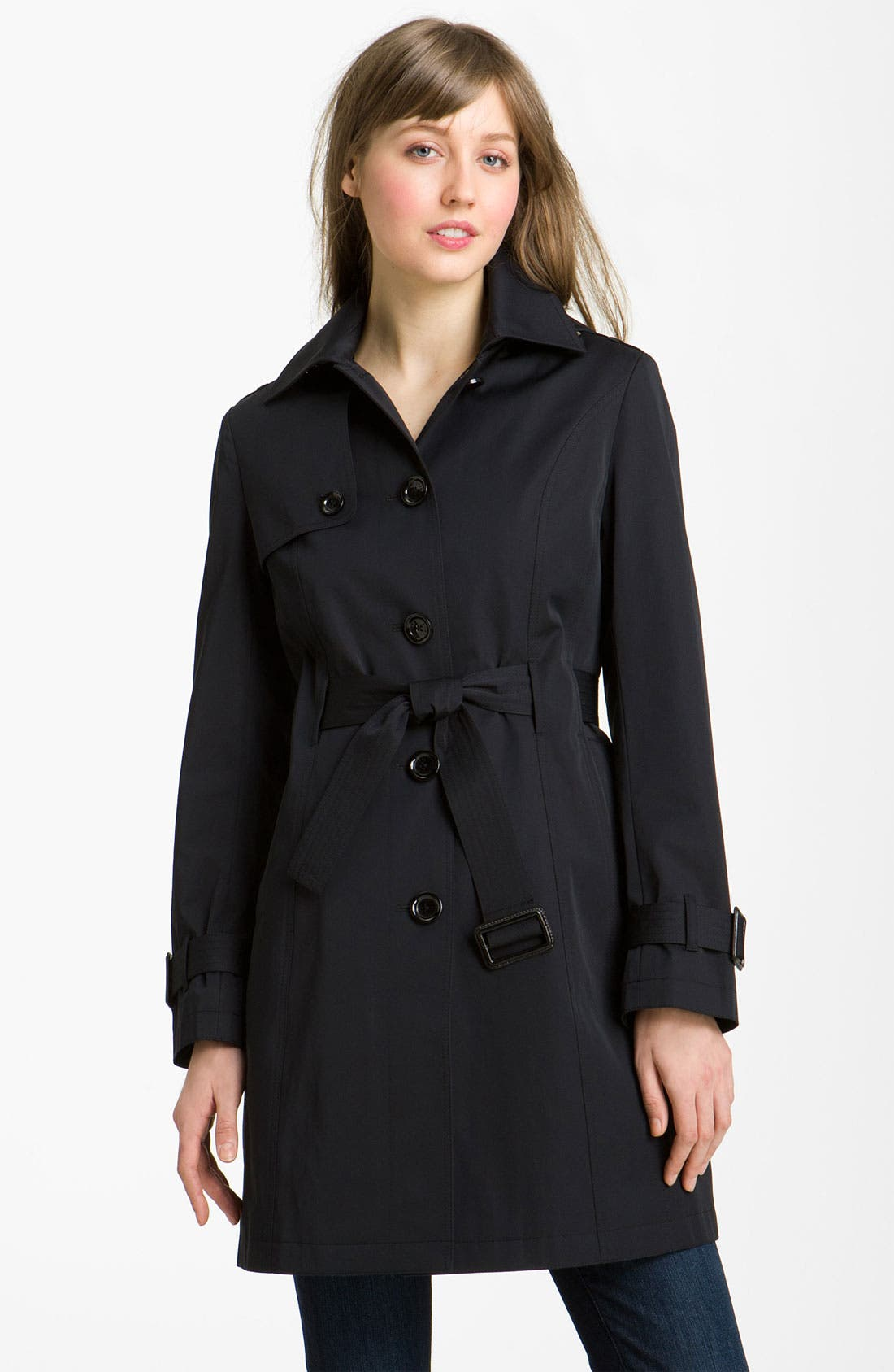 MICHAEL MICHAEL KORS Belted Trench with Detachable Liner, Main, color, 001