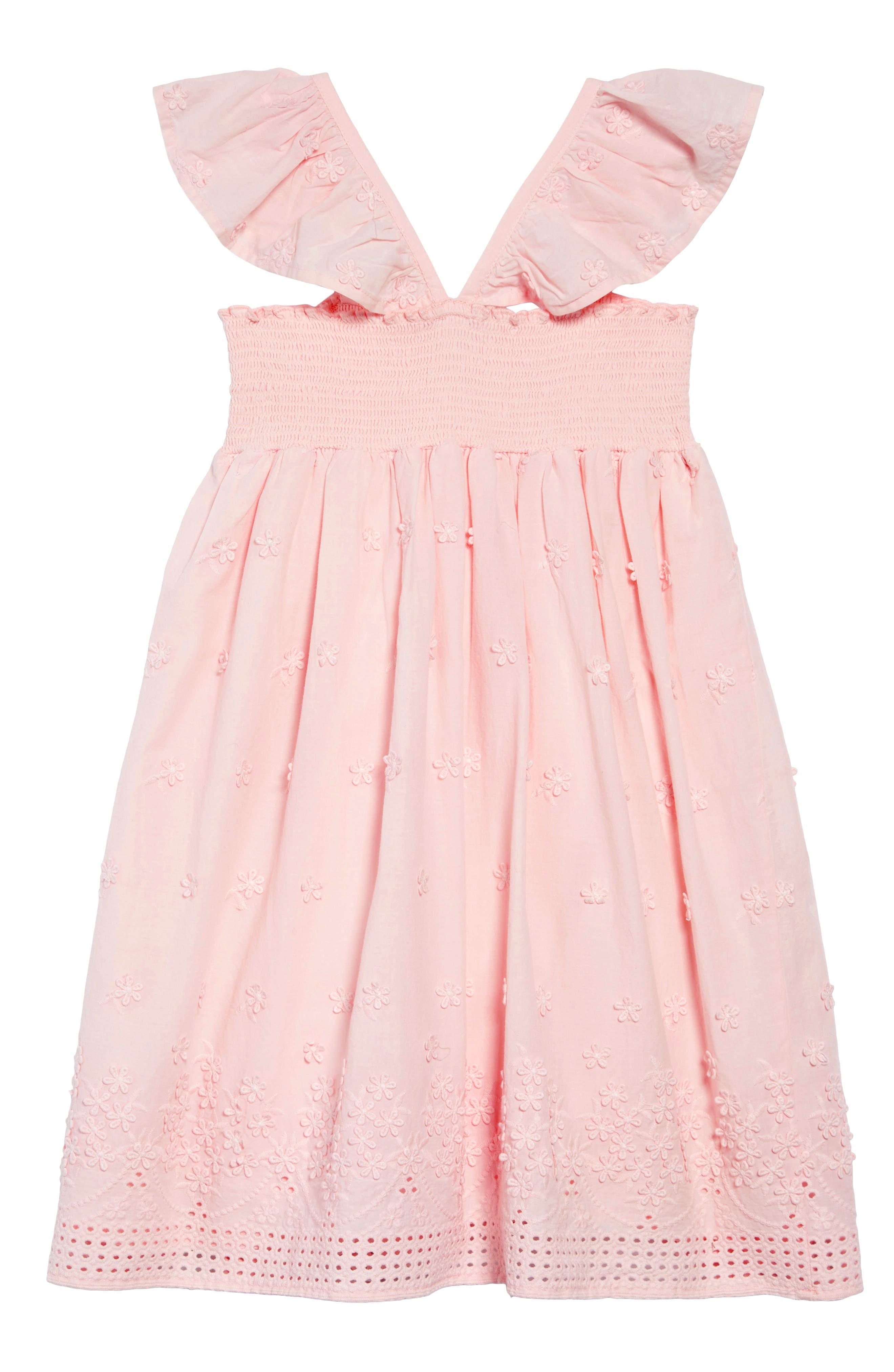 RUBY & BLOOM,                             Flutter Sleeve Dress,                             Alternate thumbnail 2, color,                             PINK CHINTZ