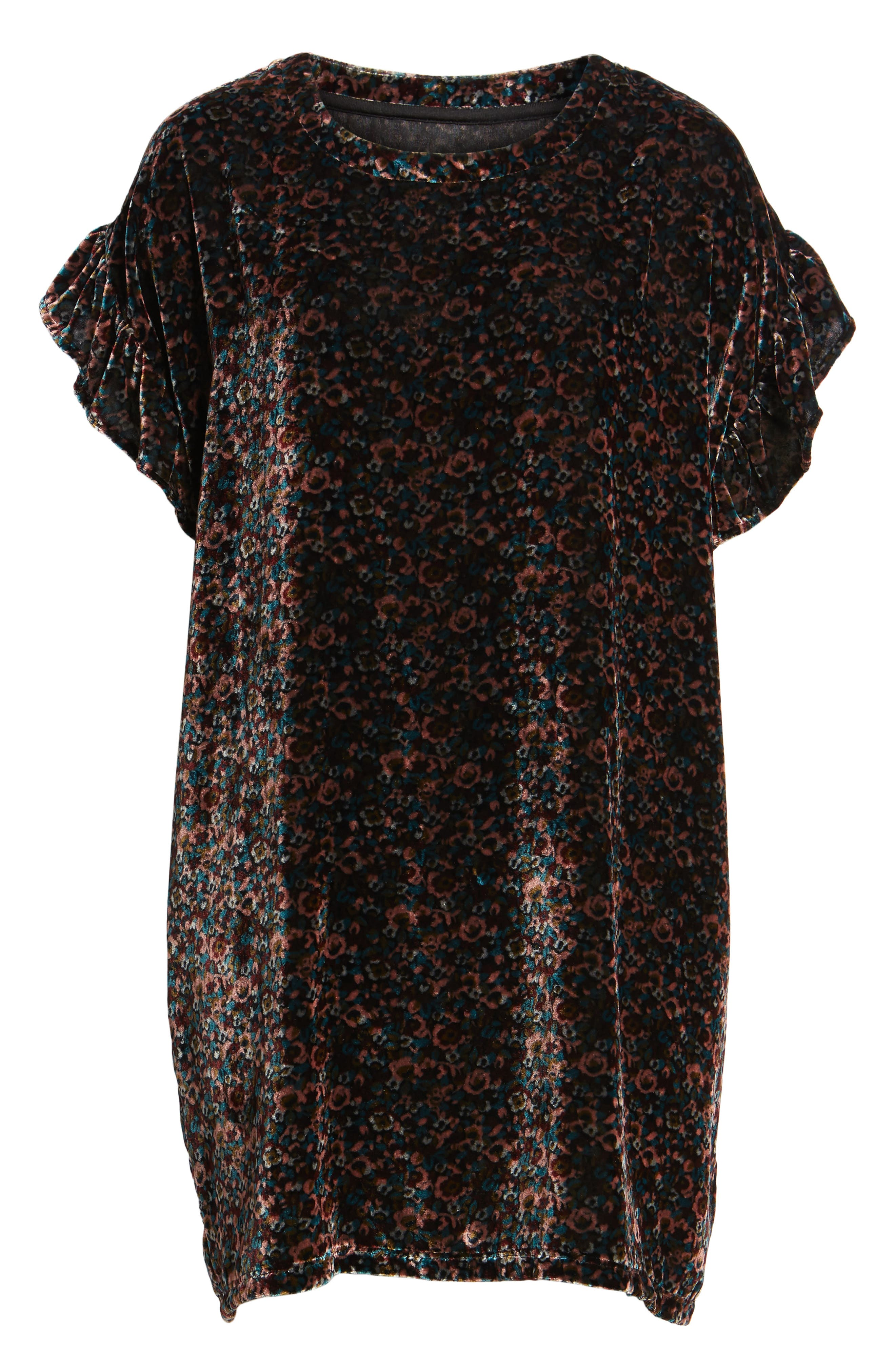 The Janie Velvet Shift Dress,                             Alternate thumbnail 6, color,                             005