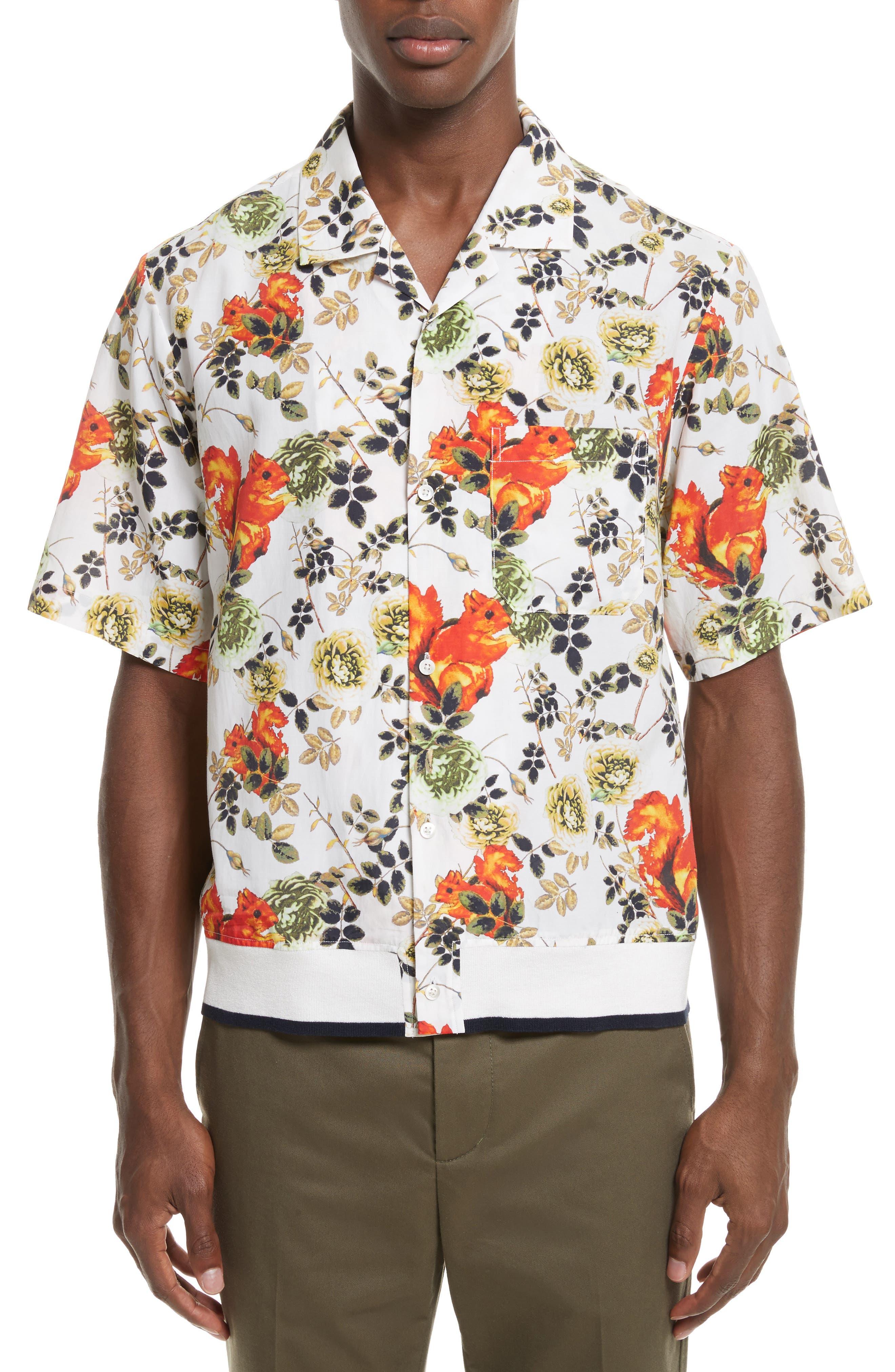 Floral Souvenir Shirt,                         Main,                         color, 191