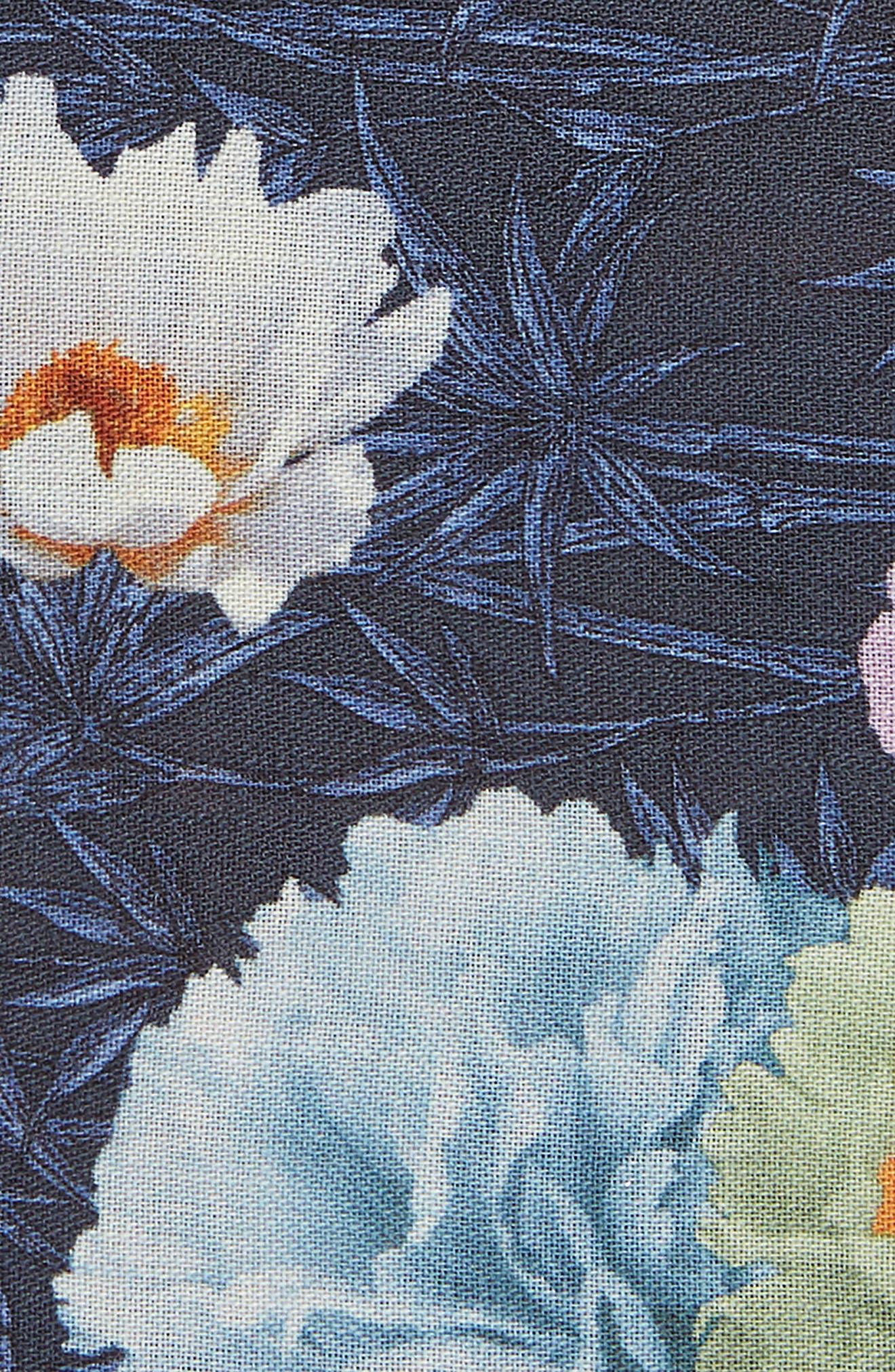 Print Wool Pocket Square,                             Alternate thumbnail 3, color,                             NAVY