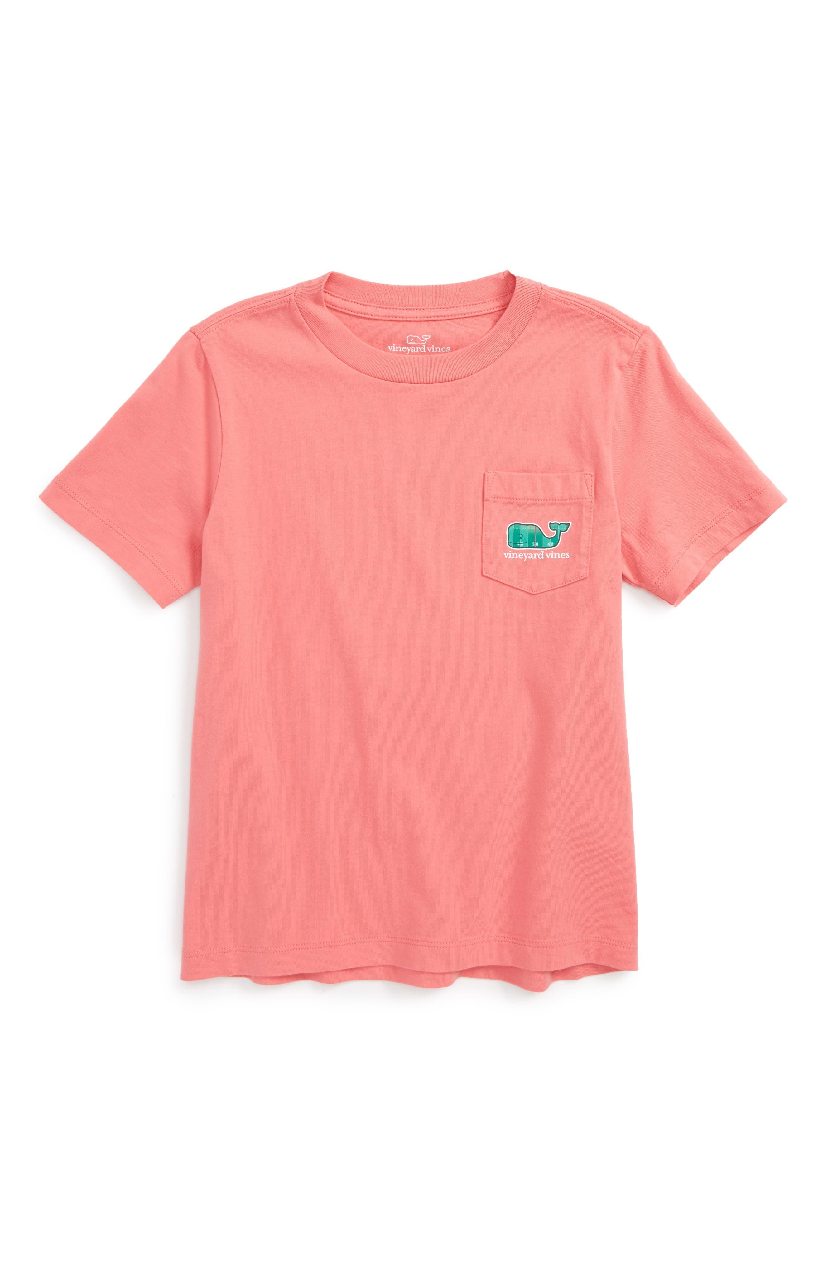 Football Field Whale Pocket T-Shirt, Main, color, 602