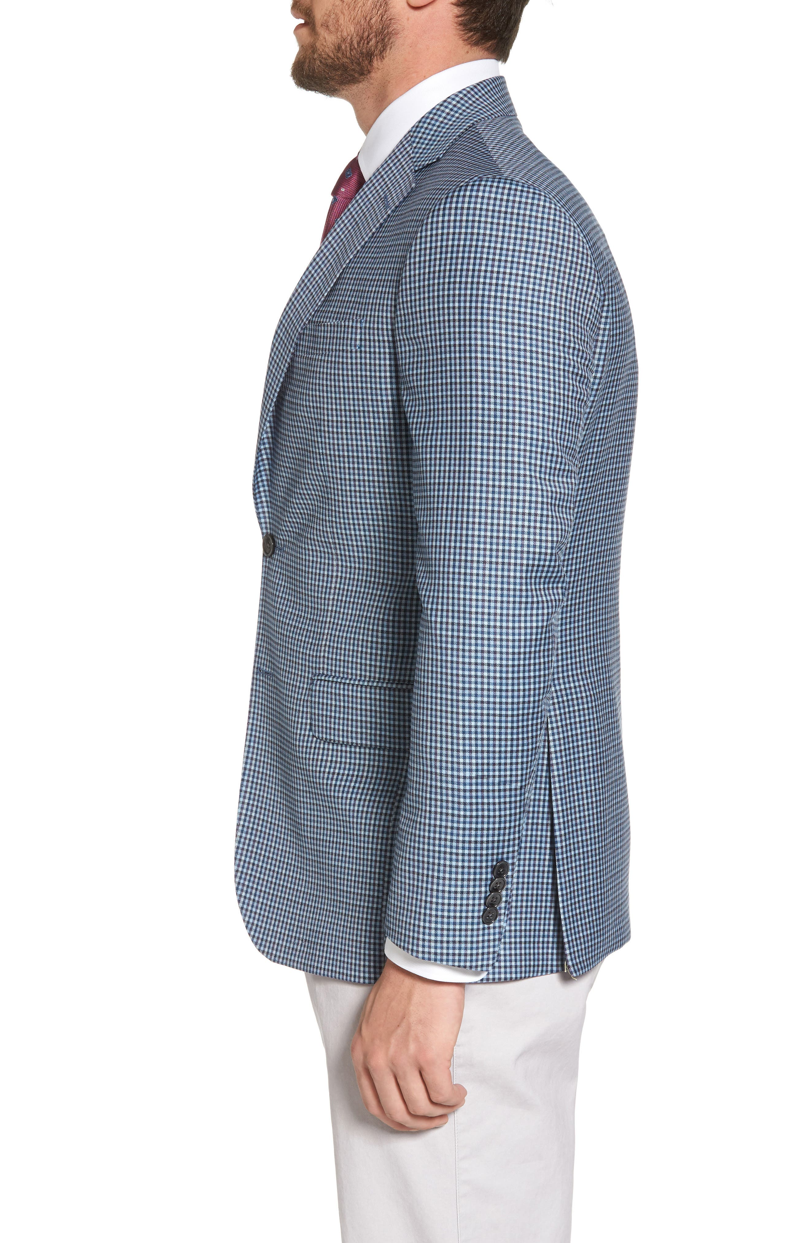 Arnold Classic Fit Check Wool Sport Coat,                             Alternate thumbnail 3, color,                             400