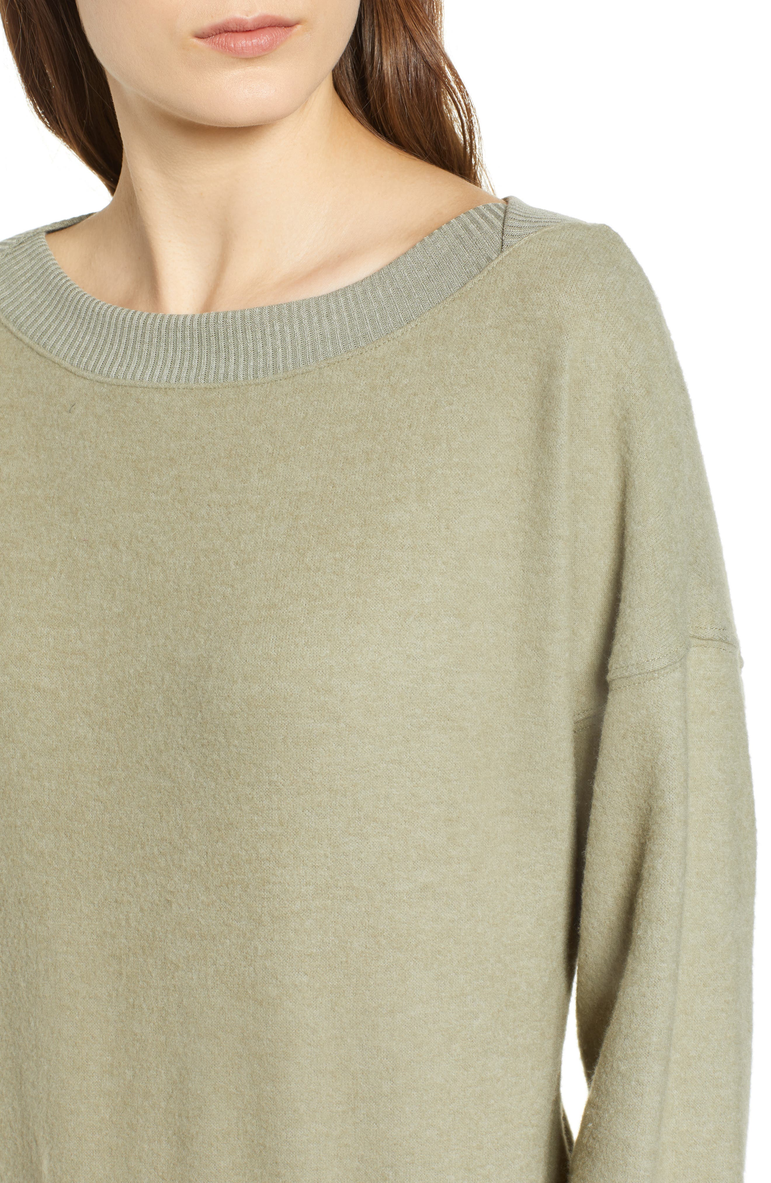 Darwin Cozy Sweatshirt,                             Alternate thumbnail 4, color,                             CAPERS