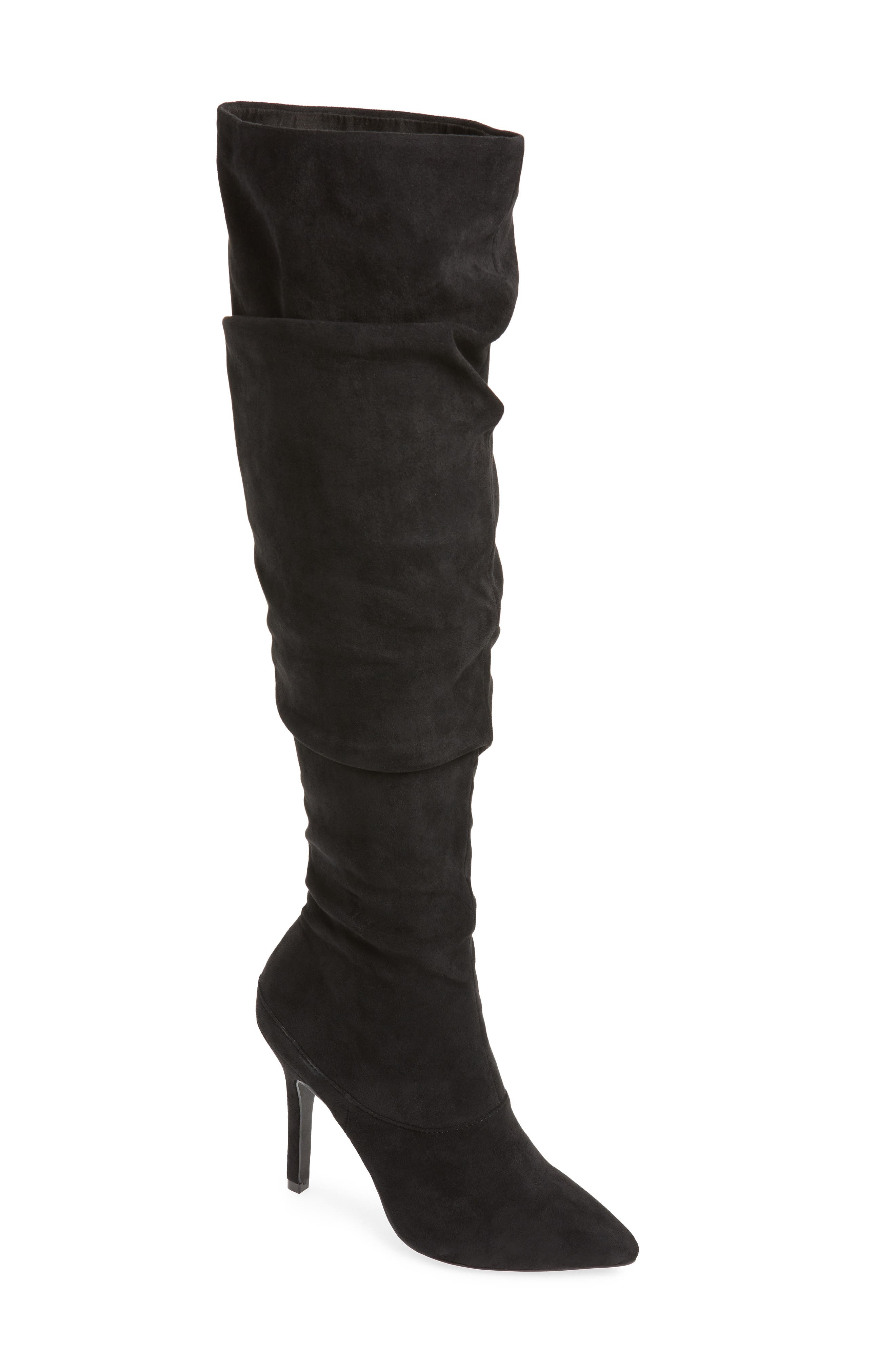 Charles By Charles David Mueller Over The Knee Boot, Black
