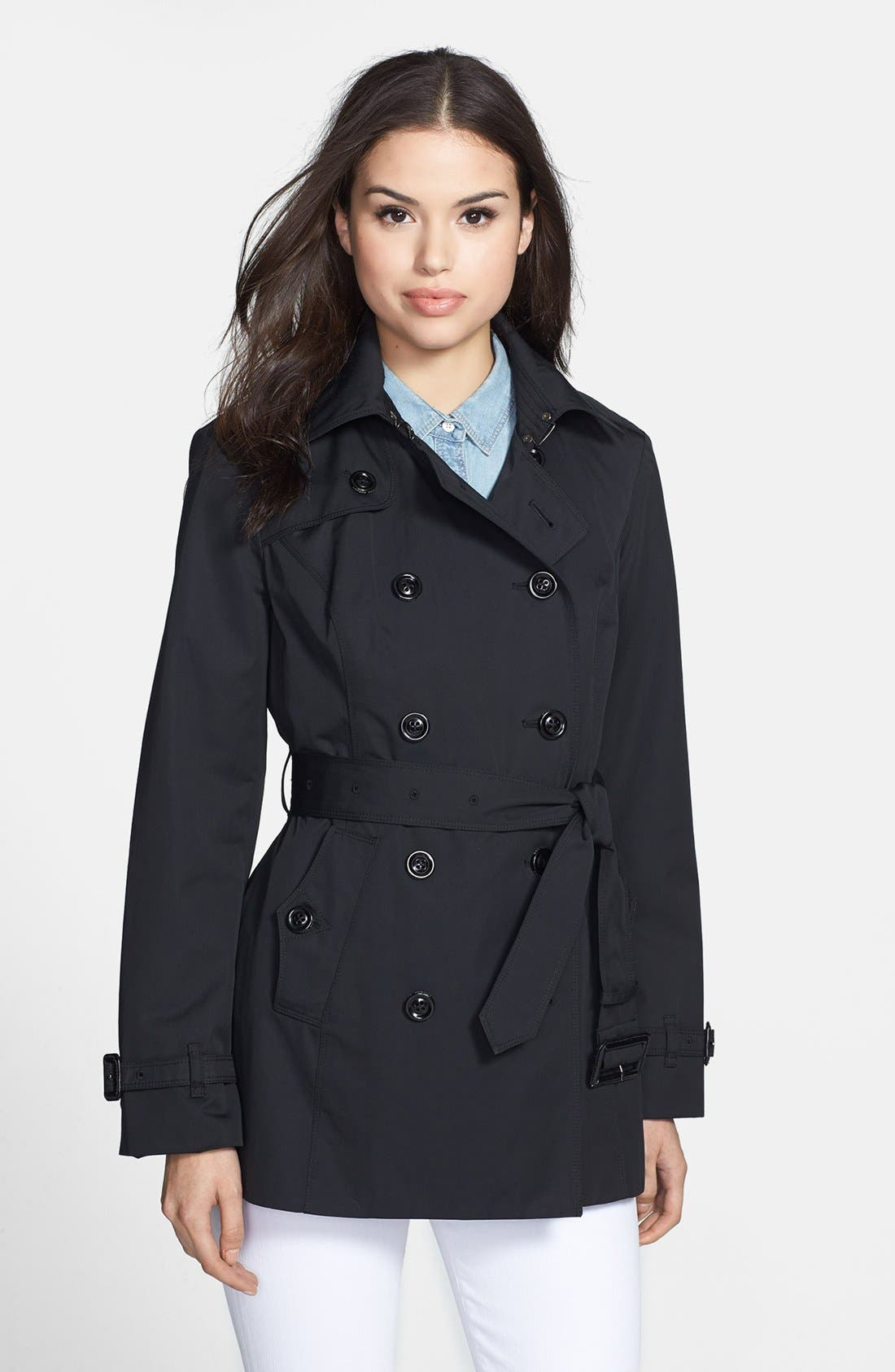 Heritage Trench Coat with Detachable Hood,                             Alternate thumbnail 2, color,                             001