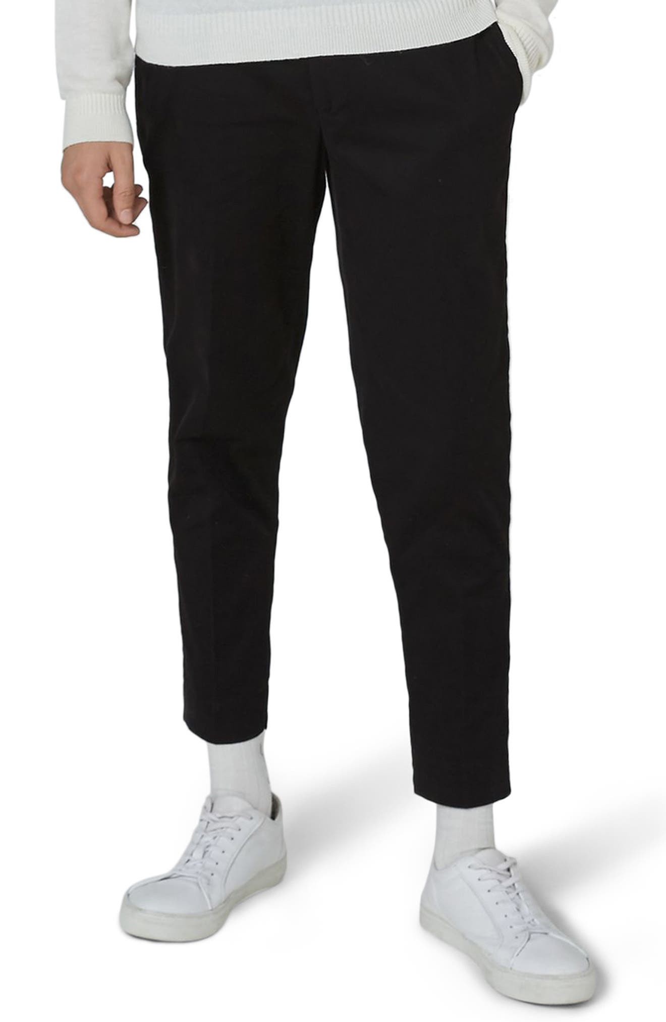 Twill Tapered Trousers,                             Main thumbnail 1, color,