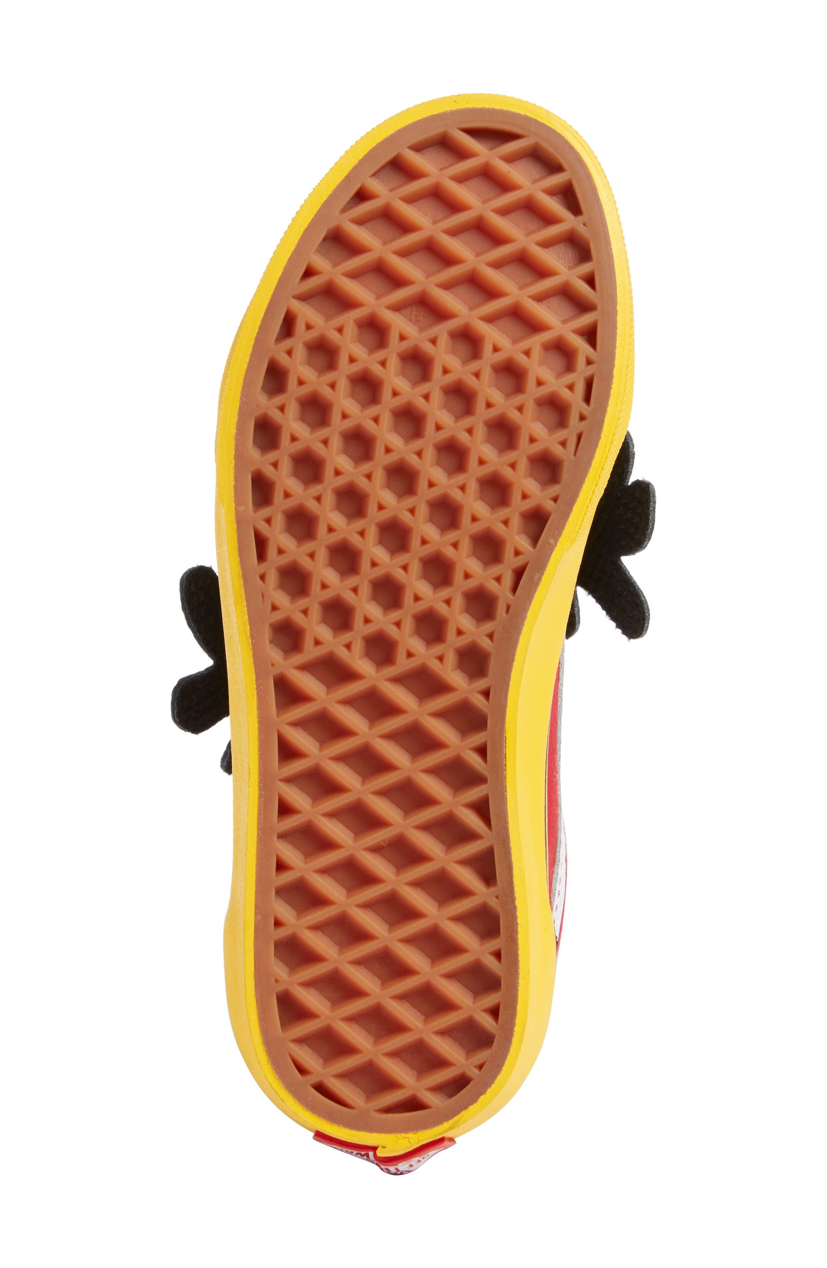 x Disney Mickey Mouse Old Skool V Sneaker,                             Alternate thumbnail 6, color,                             001