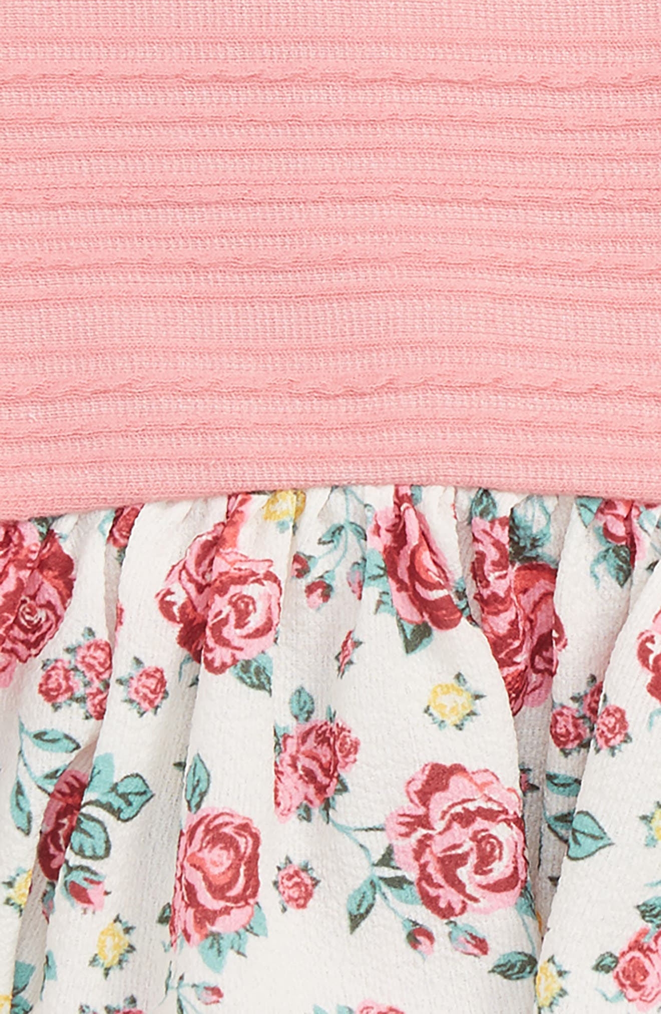 Floral Peplum Dress & Leggings Set,                             Alternate thumbnail 2, color,                             650
