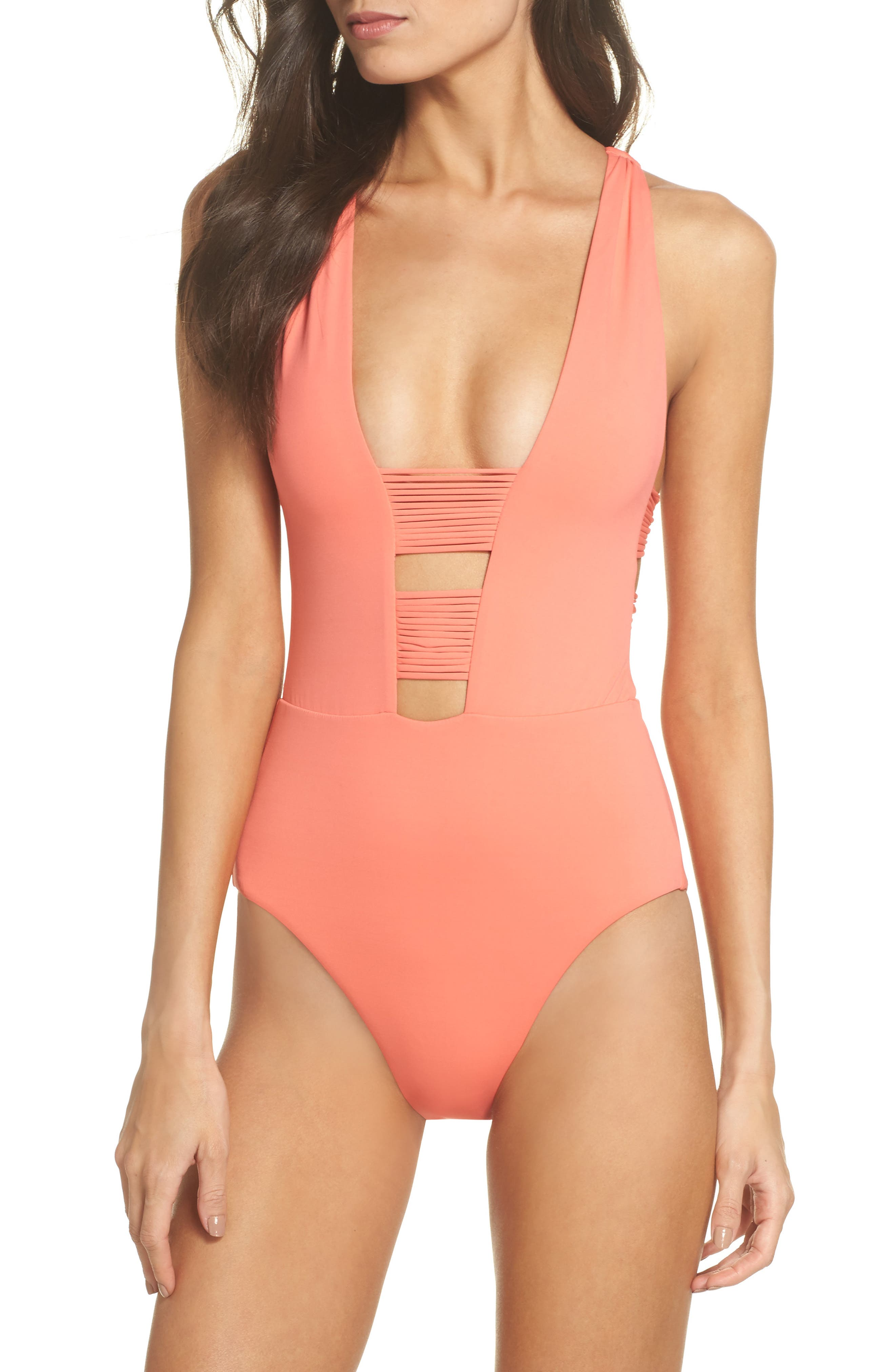 Beach Solids One-Piece Swimsuit,                             Main thumbnail 3, color,