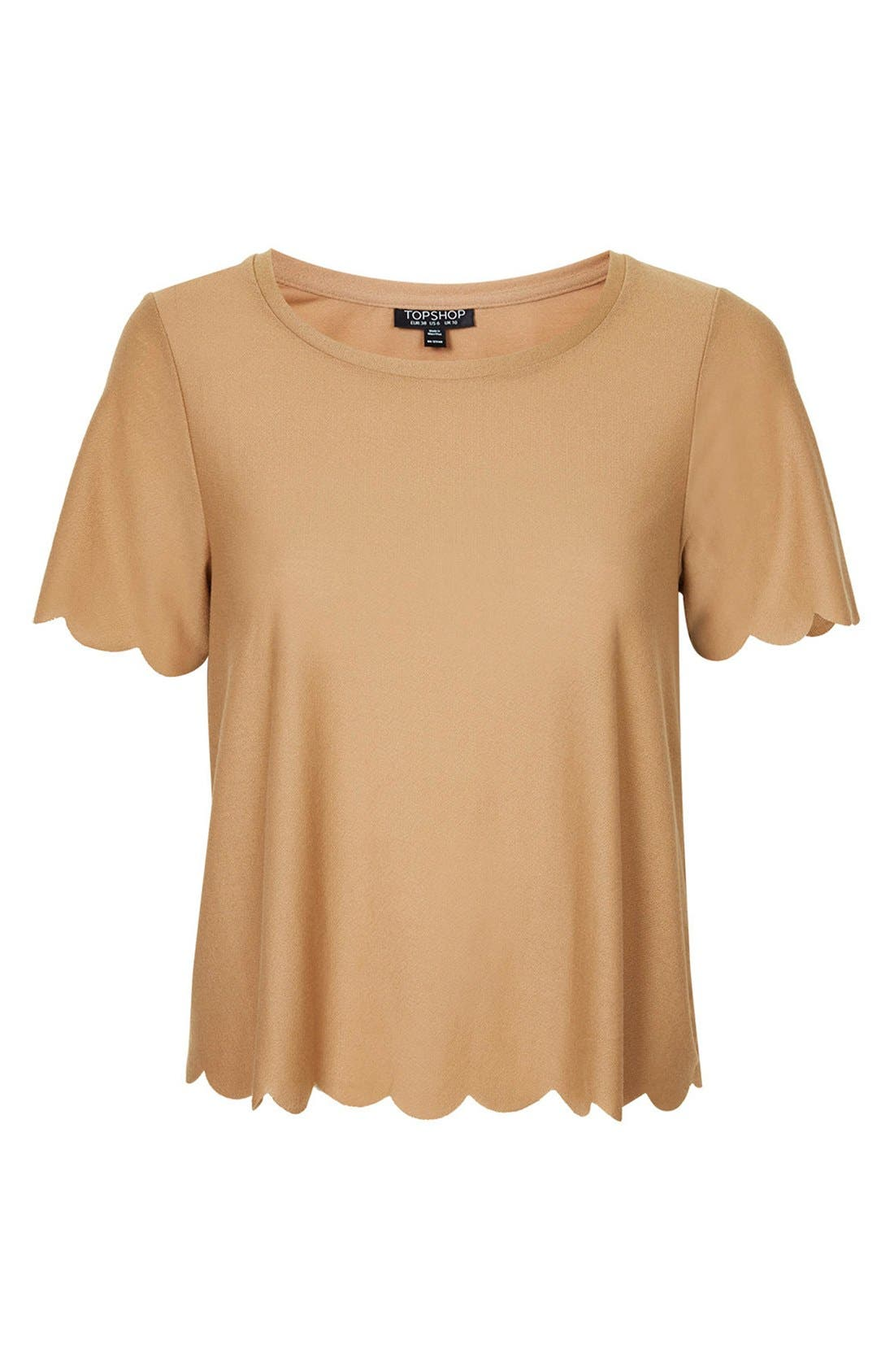 Scallop Frill Tee,                             Alternate thumbnail 14, color,