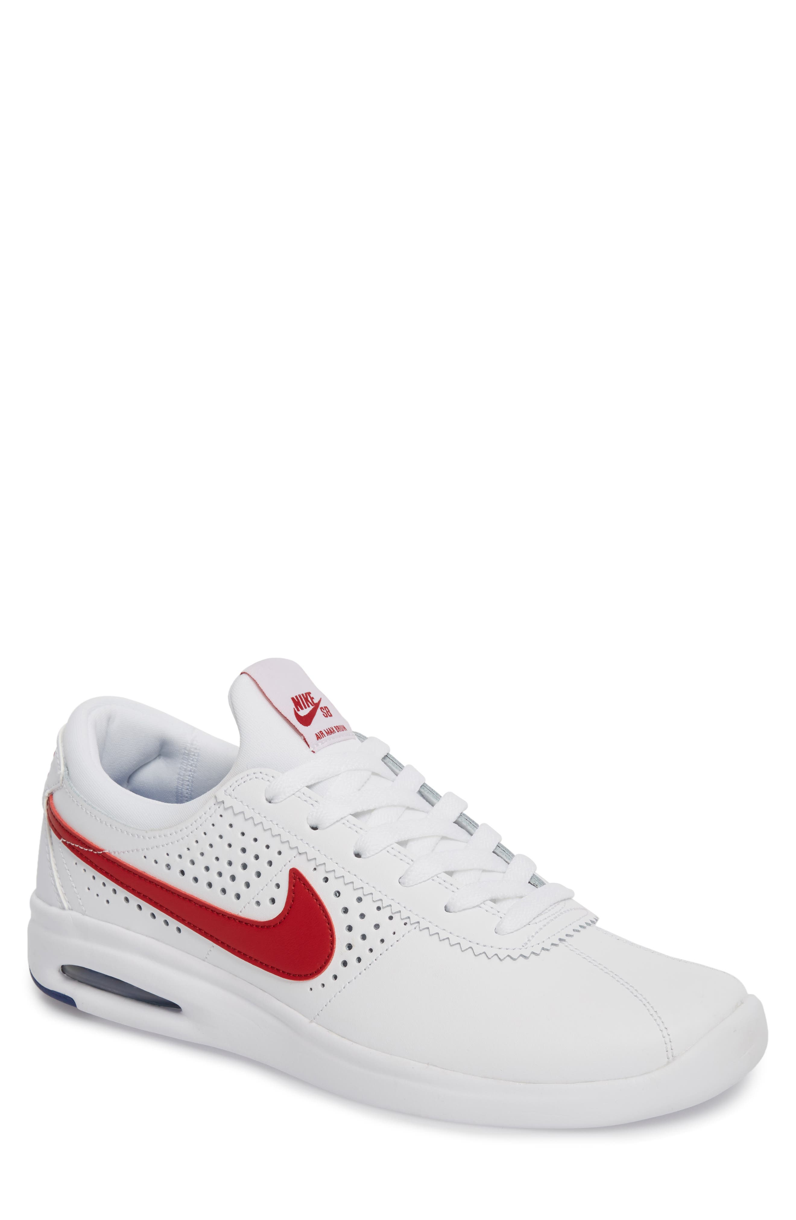 SB Air Max Bruin Vapor Skateboarding Sneaker,                             Main thumbnail 1, color,                             100