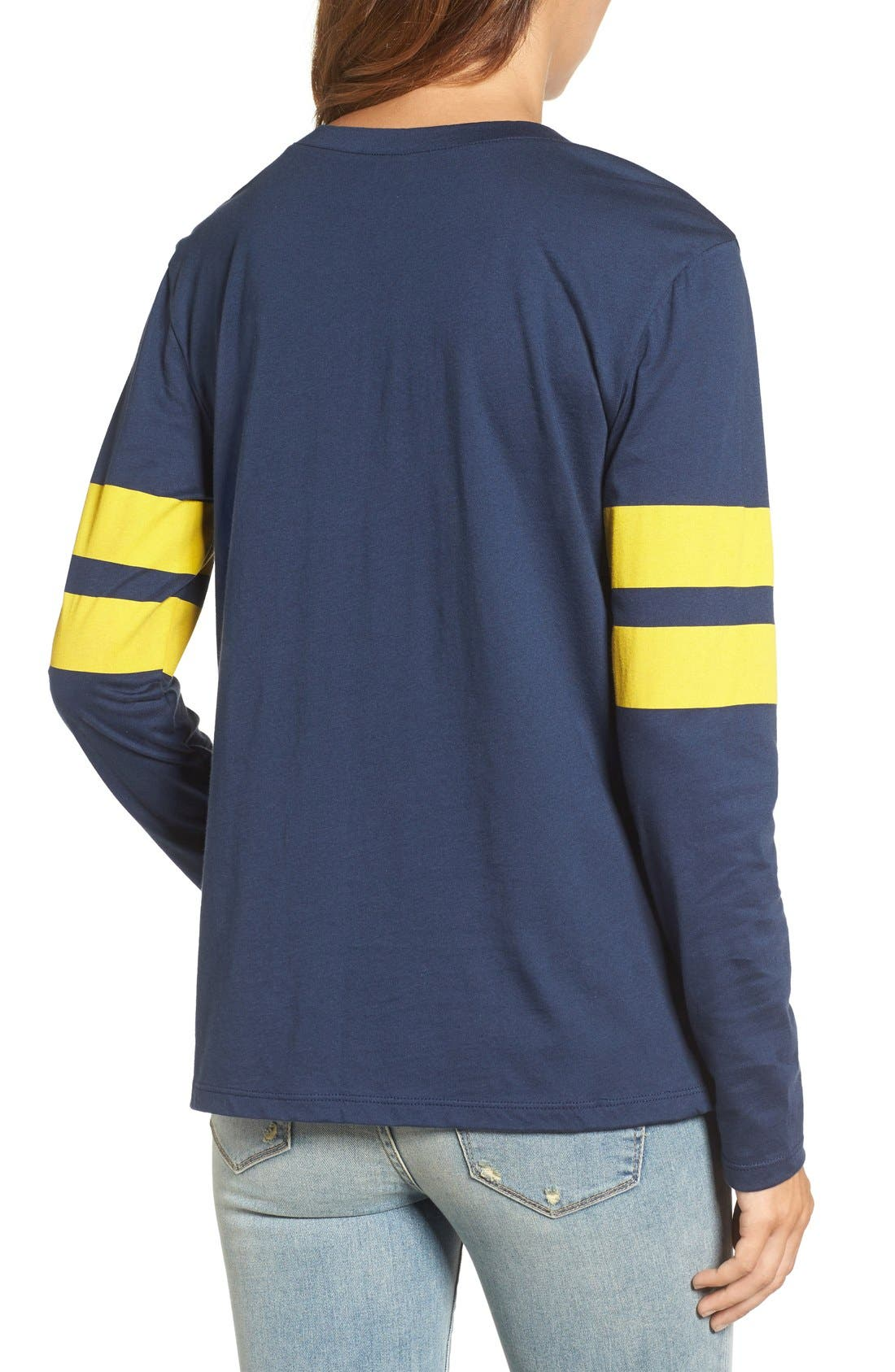 Varsity Stripe Cotton Tee,                             Alternate thumbnail 132, color,