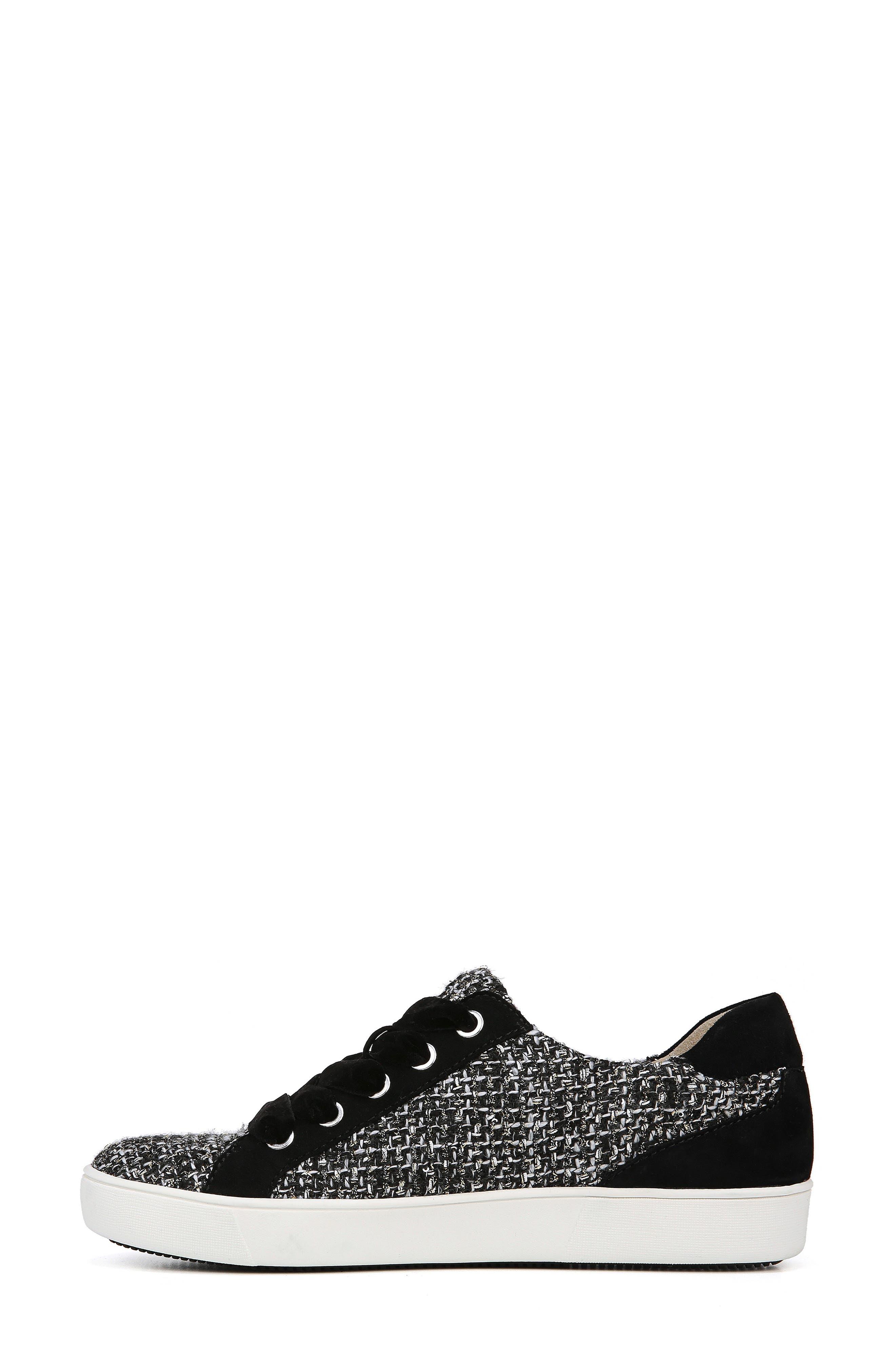 Morrison Sneaker,                             Alternate thumbnail 8, color,                             BLACK/ WHITE TWEED FABRIC