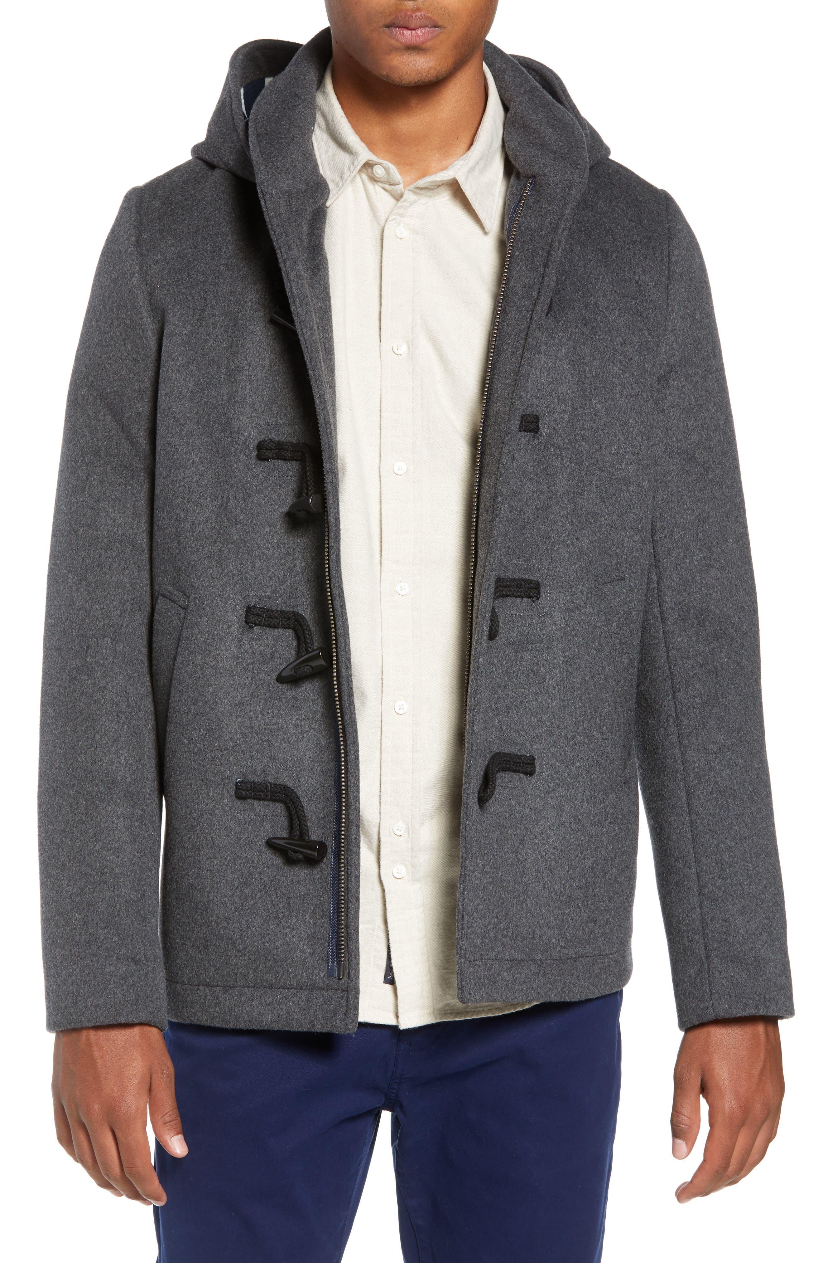 SCOTCH & SODA,                             Wool Blend Duffel Coat,                             Main thumbnail 1, color,                             030