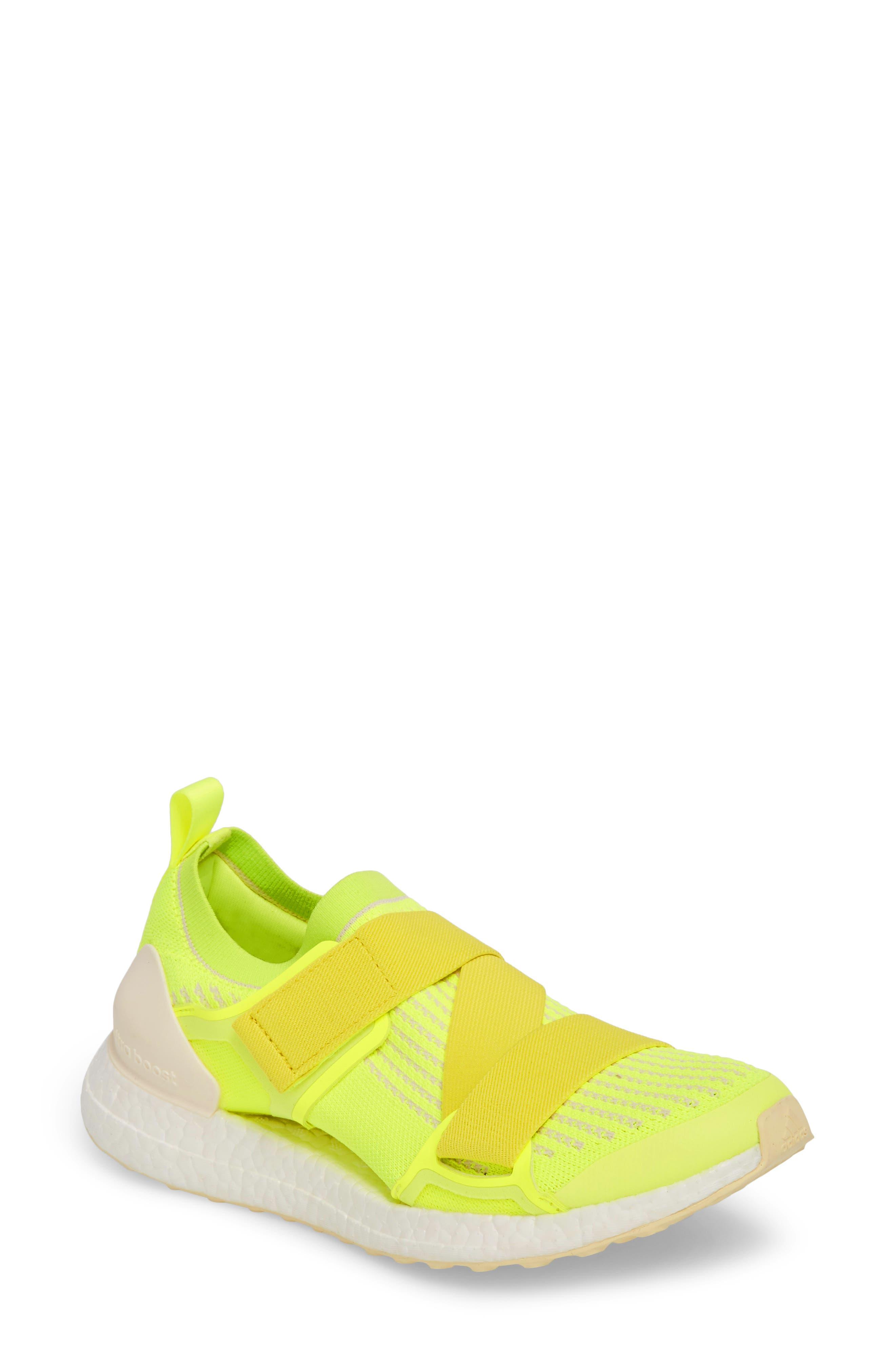 UltraBoost X Running Shoe,                             Main thumbnail 1, color,                             SOLAR YELLOW/ YELLOW/ SUN