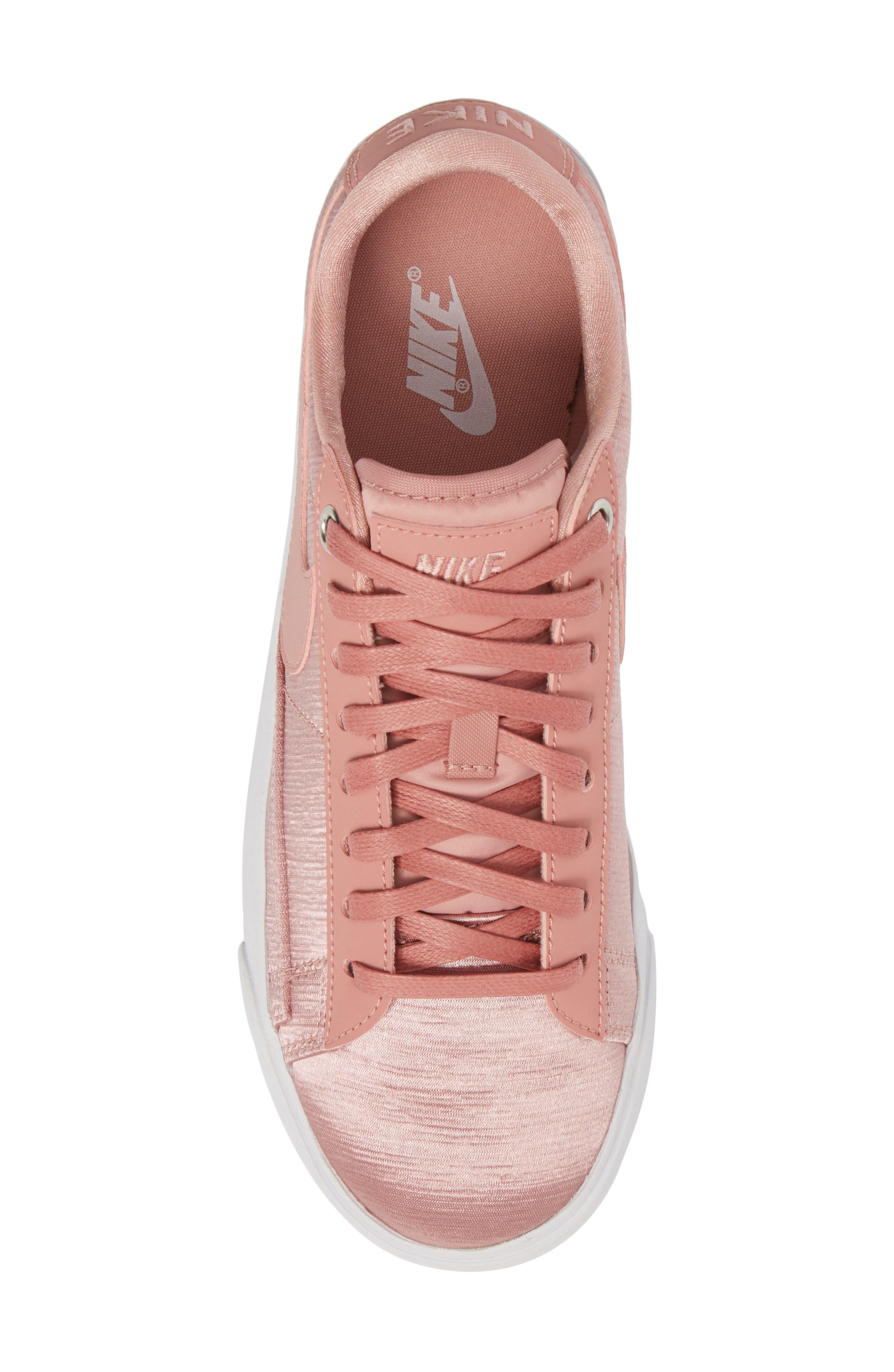 Blazer Low SE Sneaker,                             Alternate thumbnail 5, color,                             RUST PINK/ RUST PINK