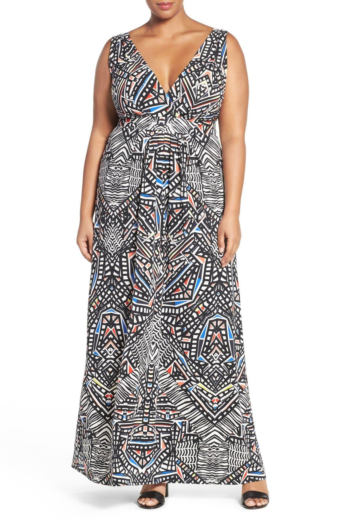 Chloe Empire Waist Maxi Dress,                             Main thumbnail 4, color,