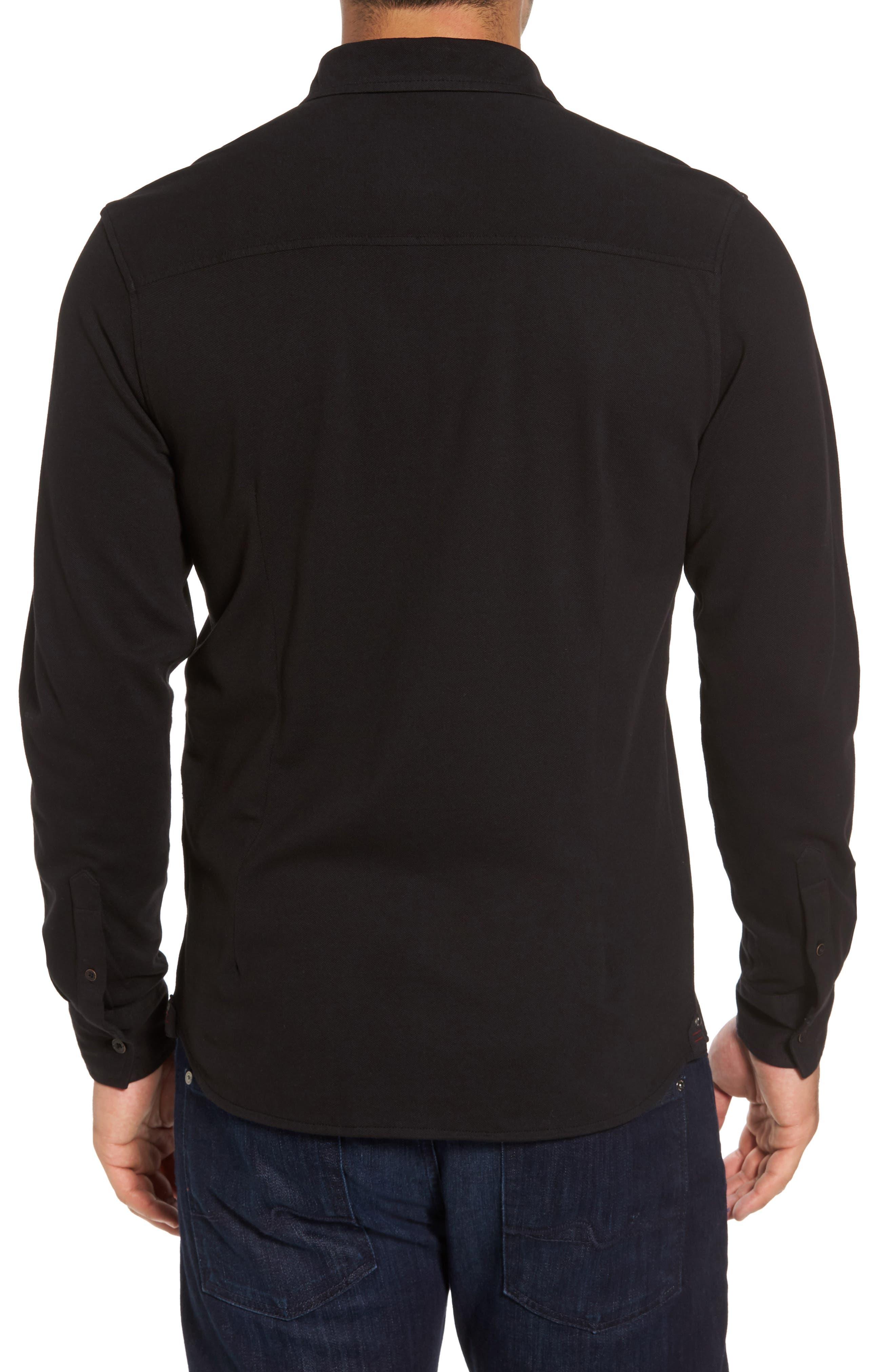 Shively Piqué Knit Sport Shirt,                             Alternate thumbnail 2, color,                             001